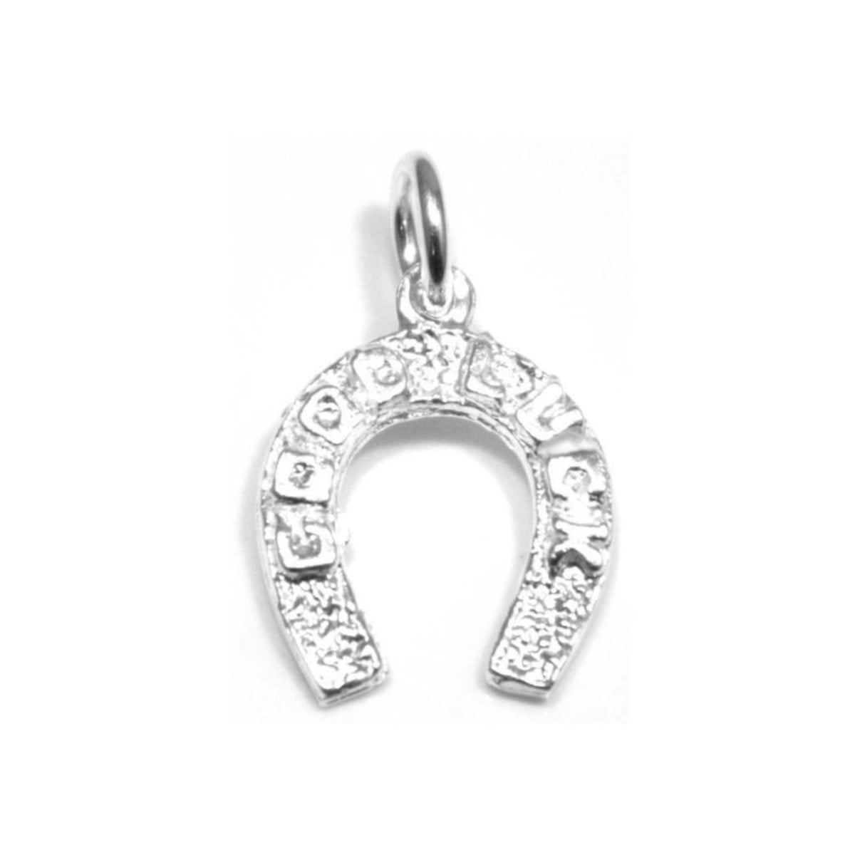 925 sterling silver good luck horseshoe pendant charm