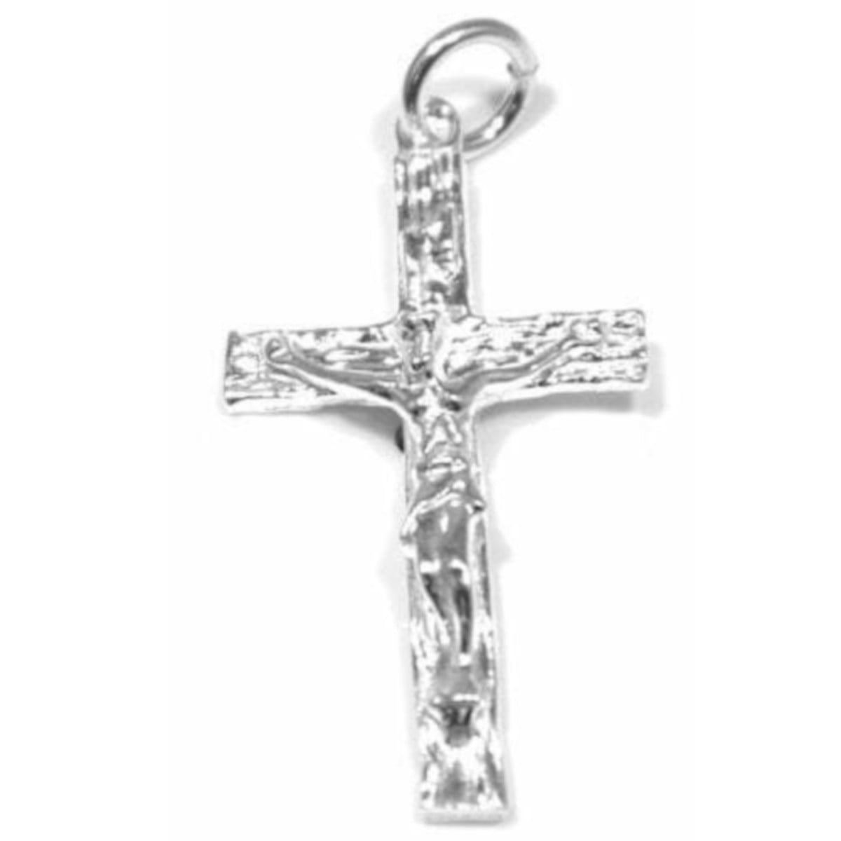 Crucifix pendant charm in sterling silver