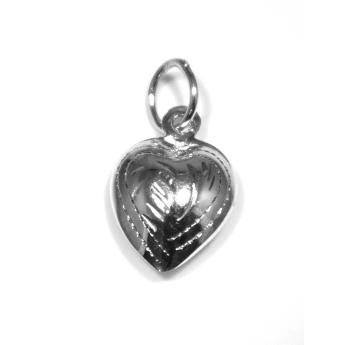 925 sterling silver small heart pendant charm