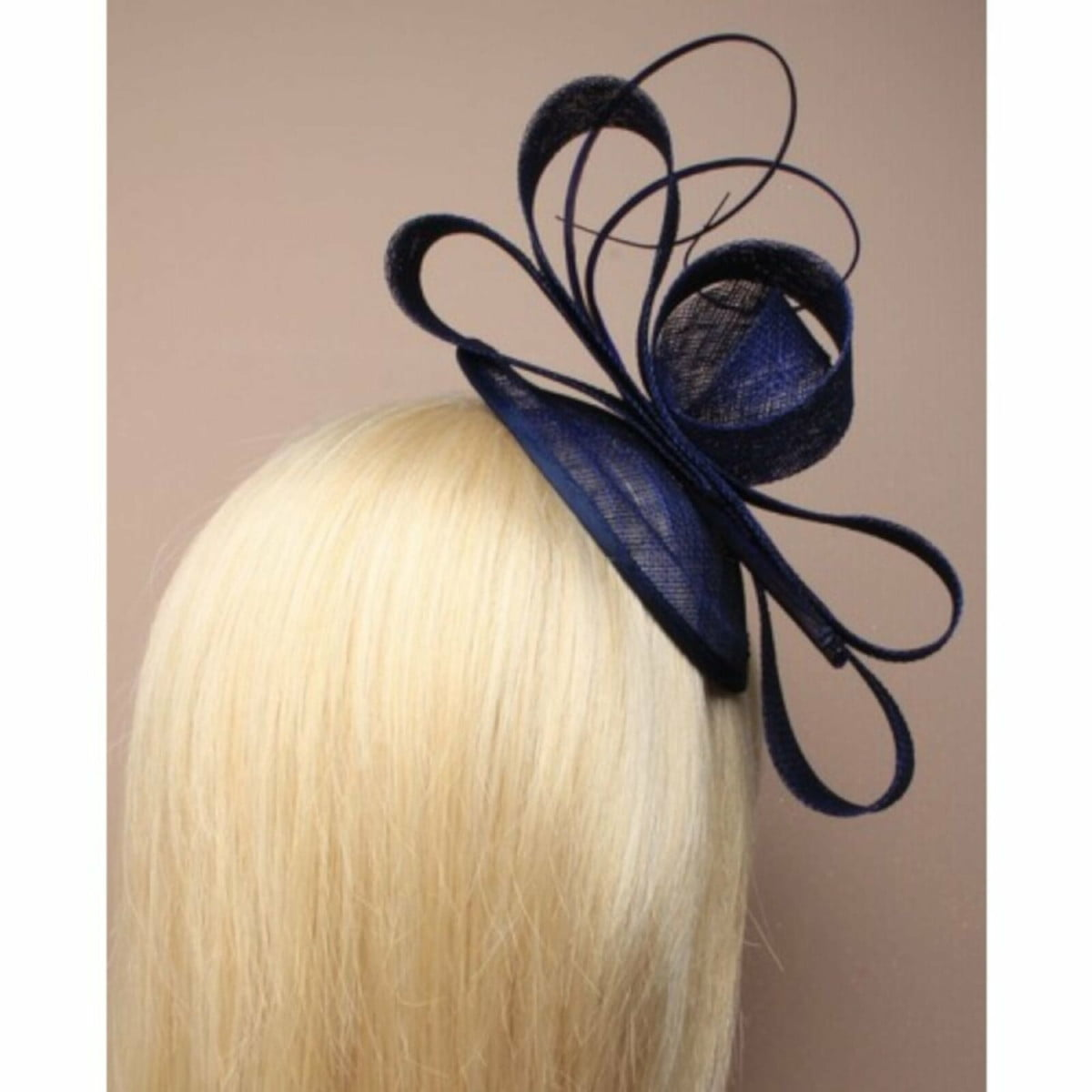 Teal fascinator with Ostrich quill on self coloured aliceband 3