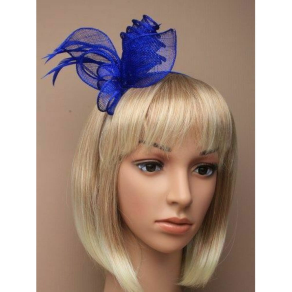 Royal Blue coiled and looped fascinator on aliceband