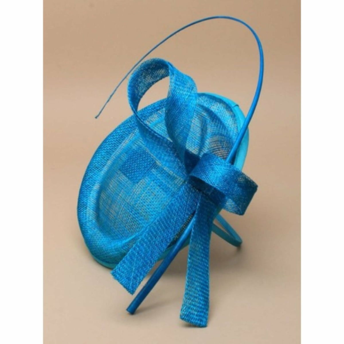 Teal fascinator with Ostrich quill on self coloured aliceband 1