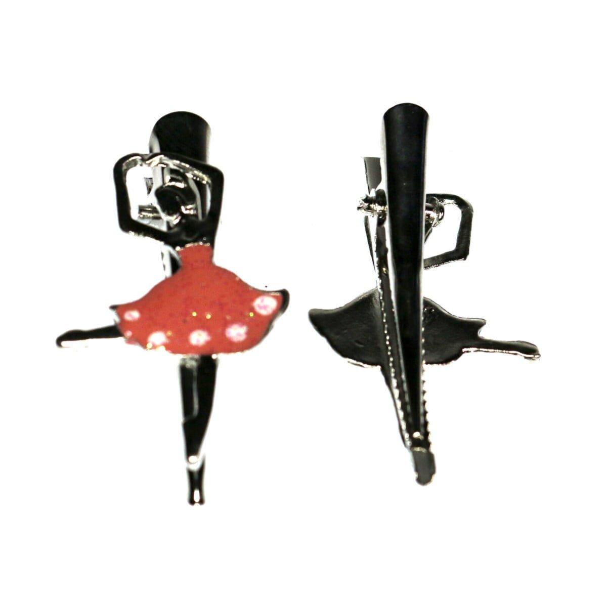 Ballerina hair clip on a beak clip. 1
