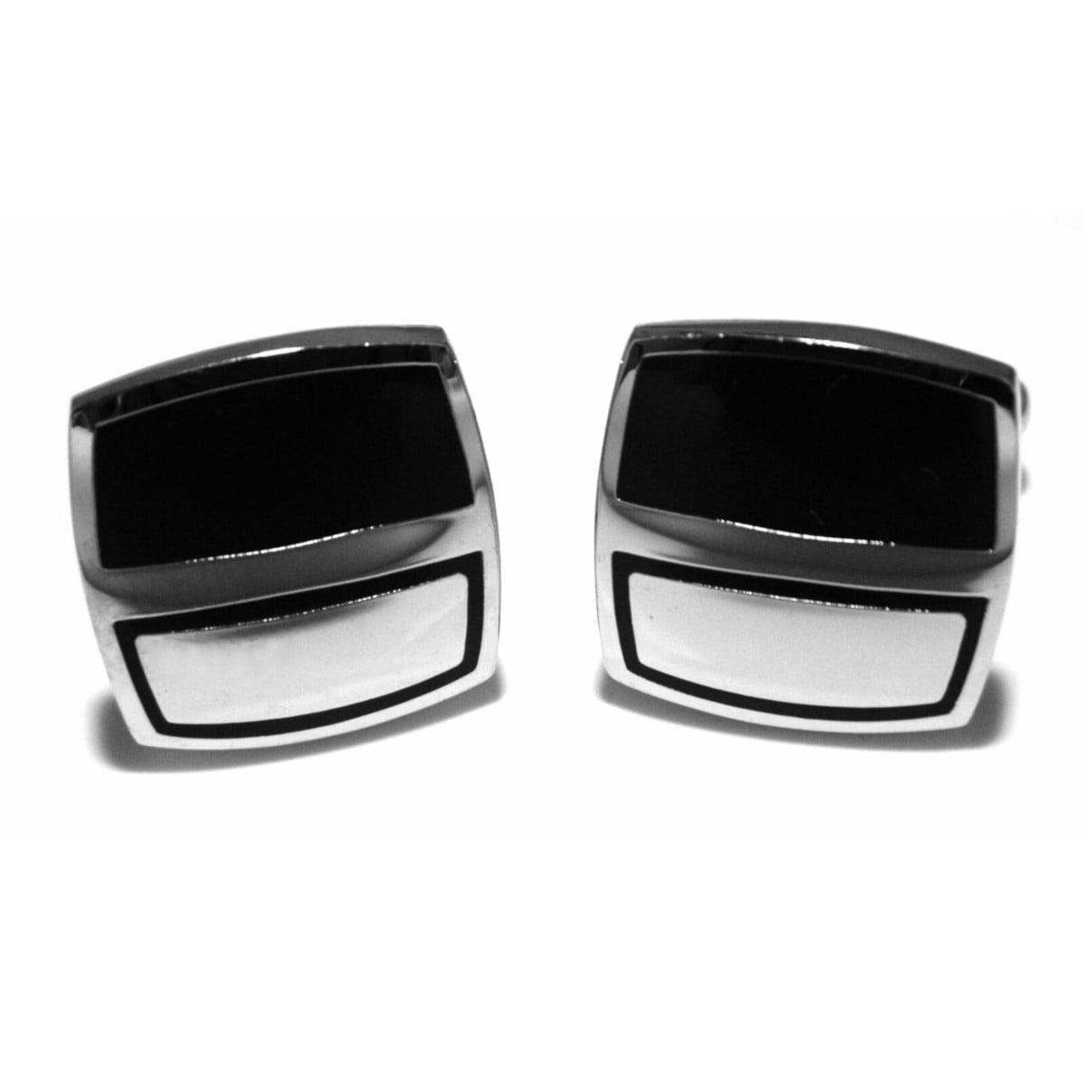 Gents silver plated cufflink set