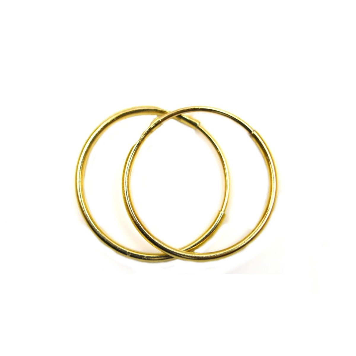 10 mm plain sleeper hoops (1 pair) in 9ct yellow gold