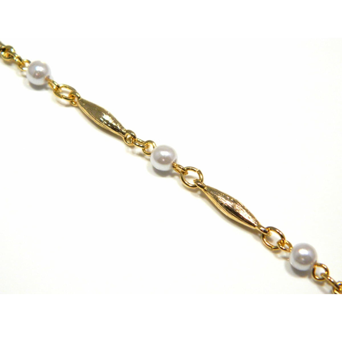 18 inches gold plated trace chain