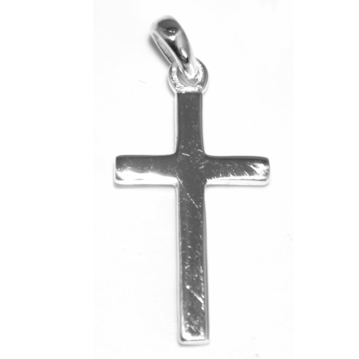 Cross pendant charm in sterling silver