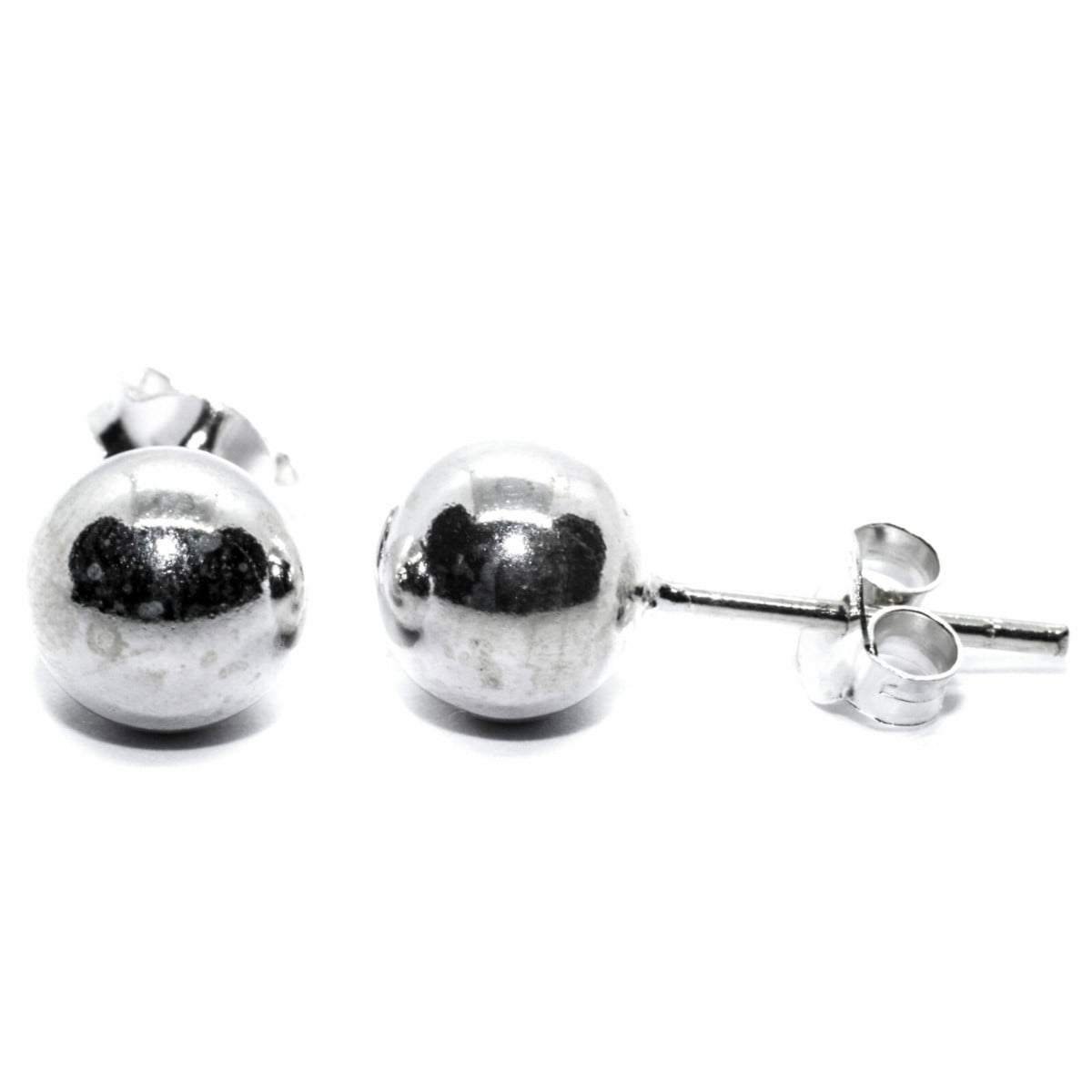 7 mm ball stud earrings in sterling silver