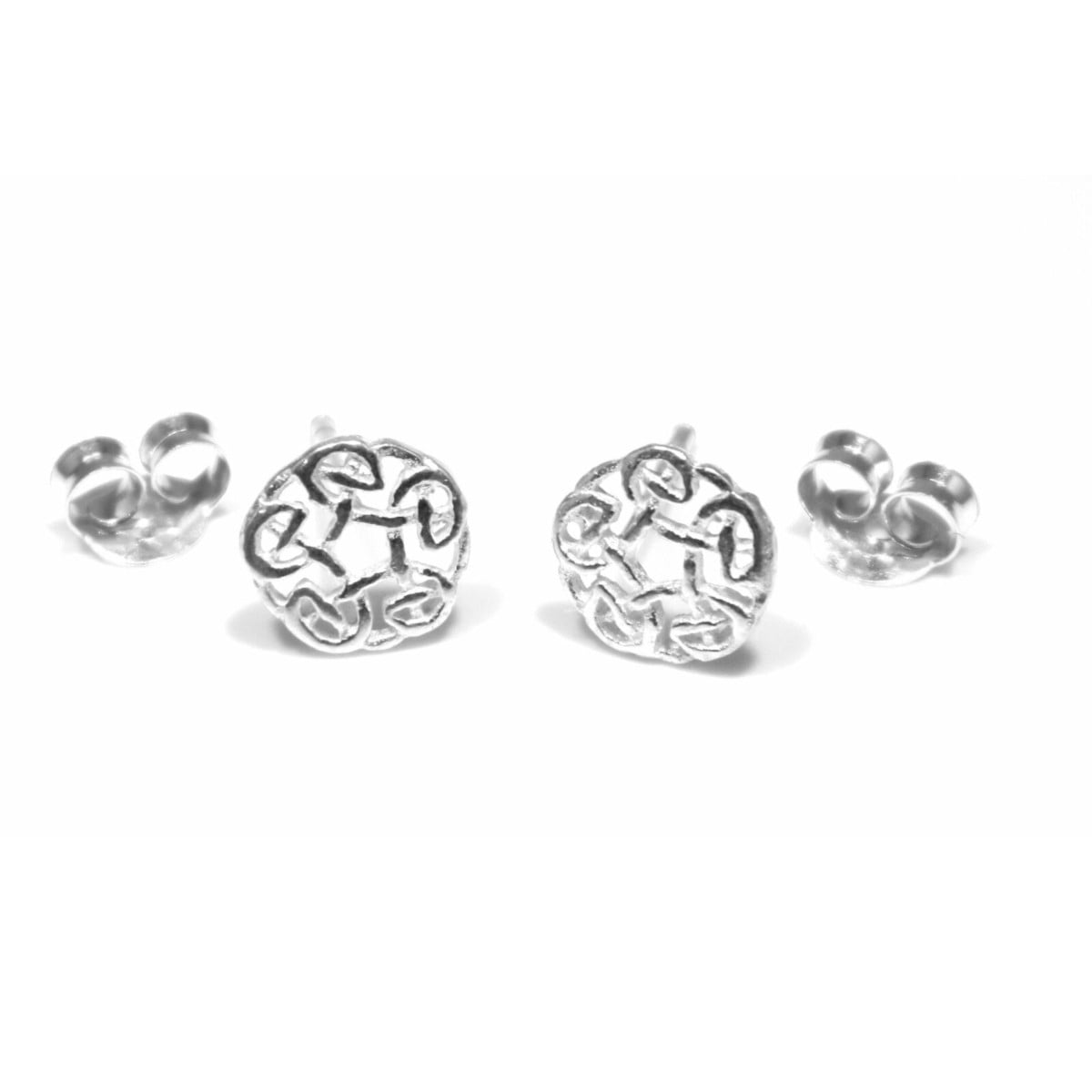 Celtic knot stud earrings in sterling silver