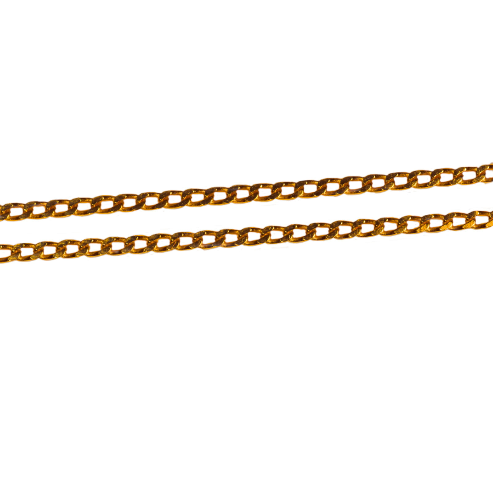 9ct yellow gold fine curb 18 inch chain