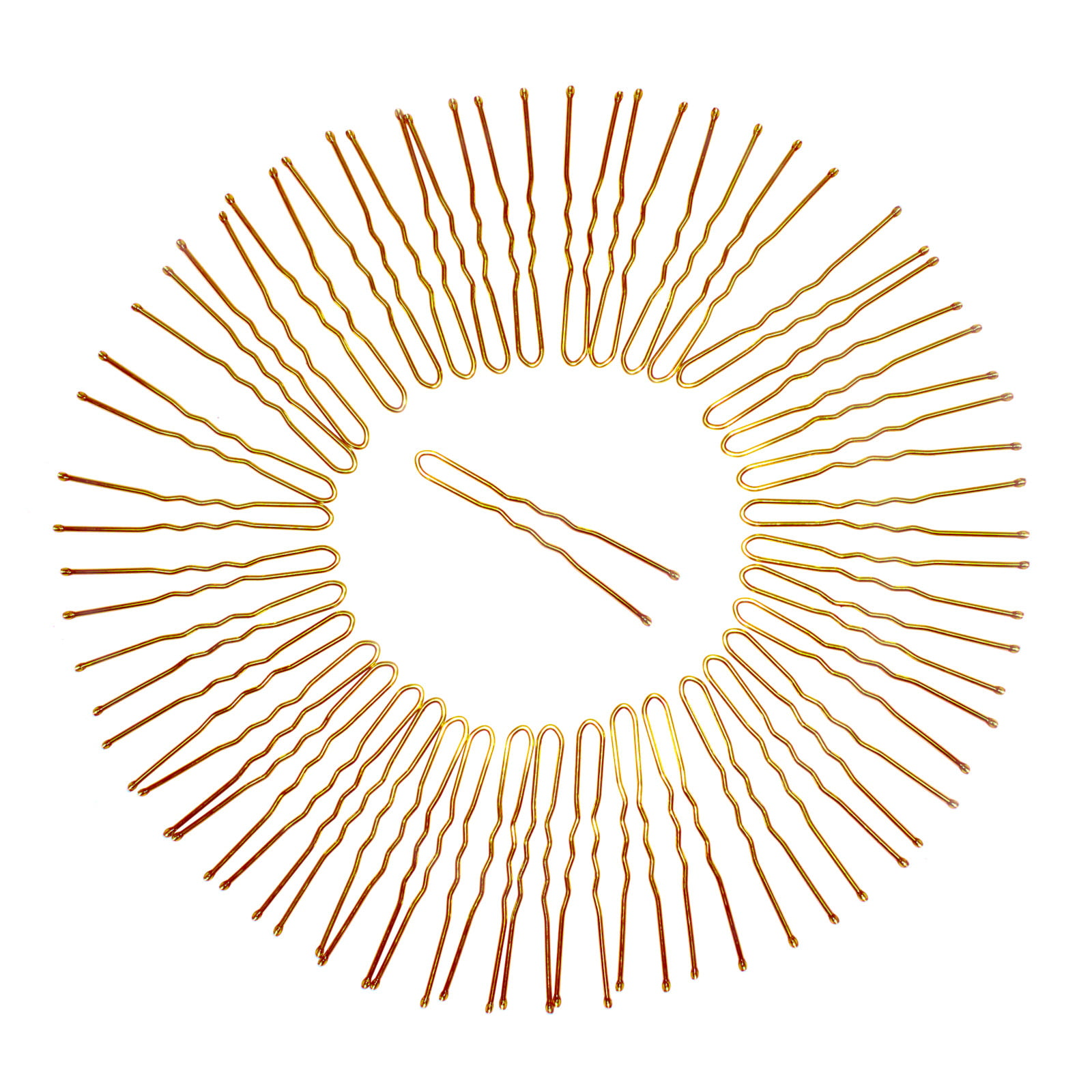 Value pack of gold bobby pins