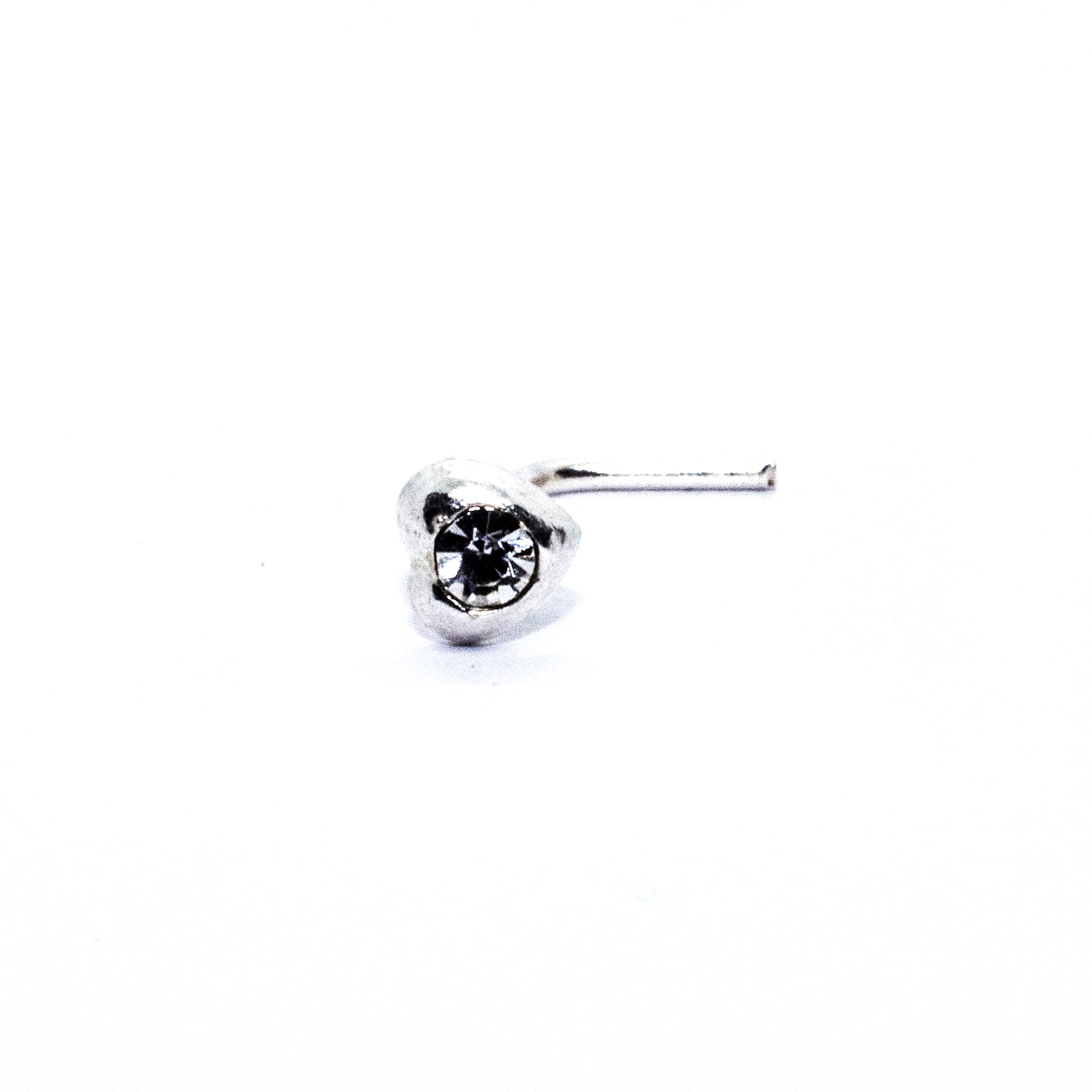 Heart nose stud with crystal (alt3)