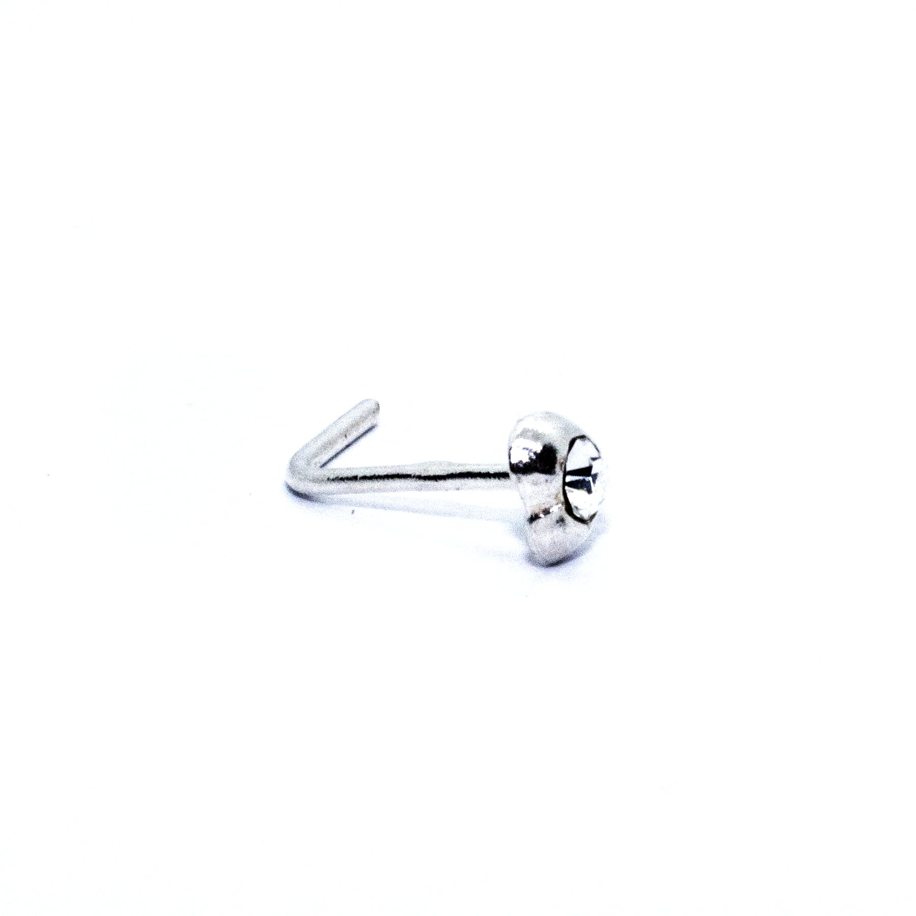 Heart nose stud with crystal (alt2)
