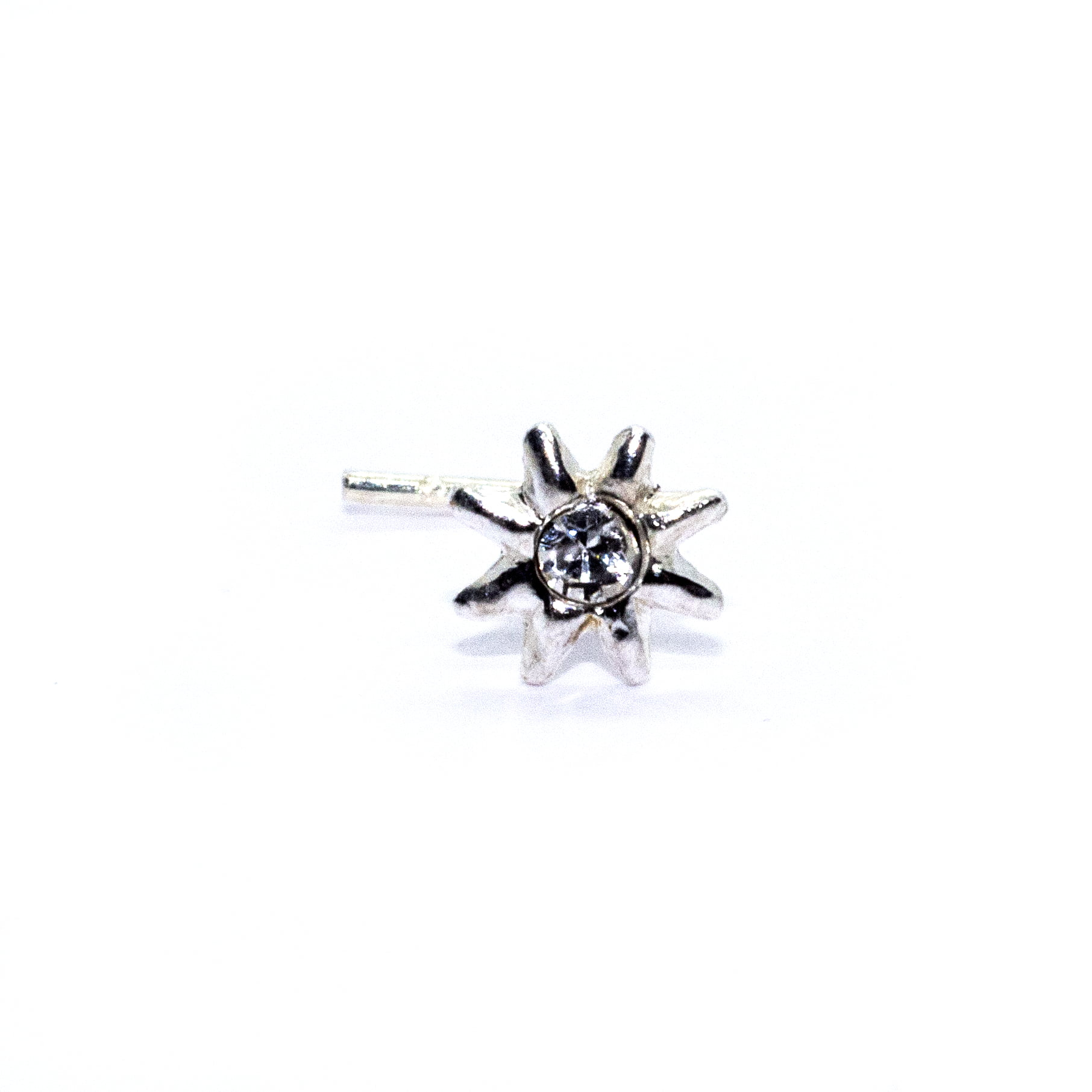 Star nose stud in sterling silver (alt1)
