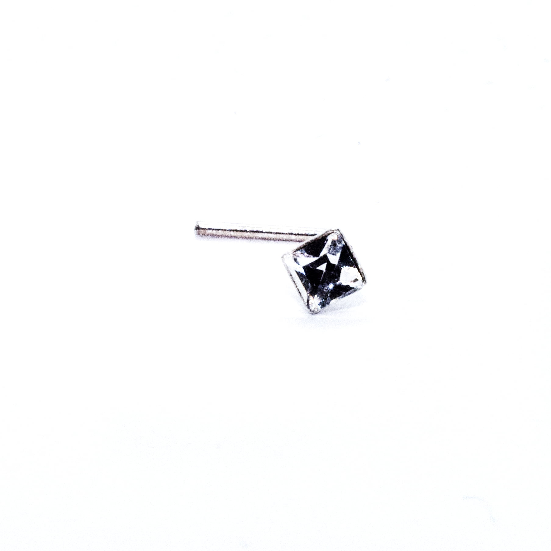 square crystal nose stud in sterling silver (alt2)