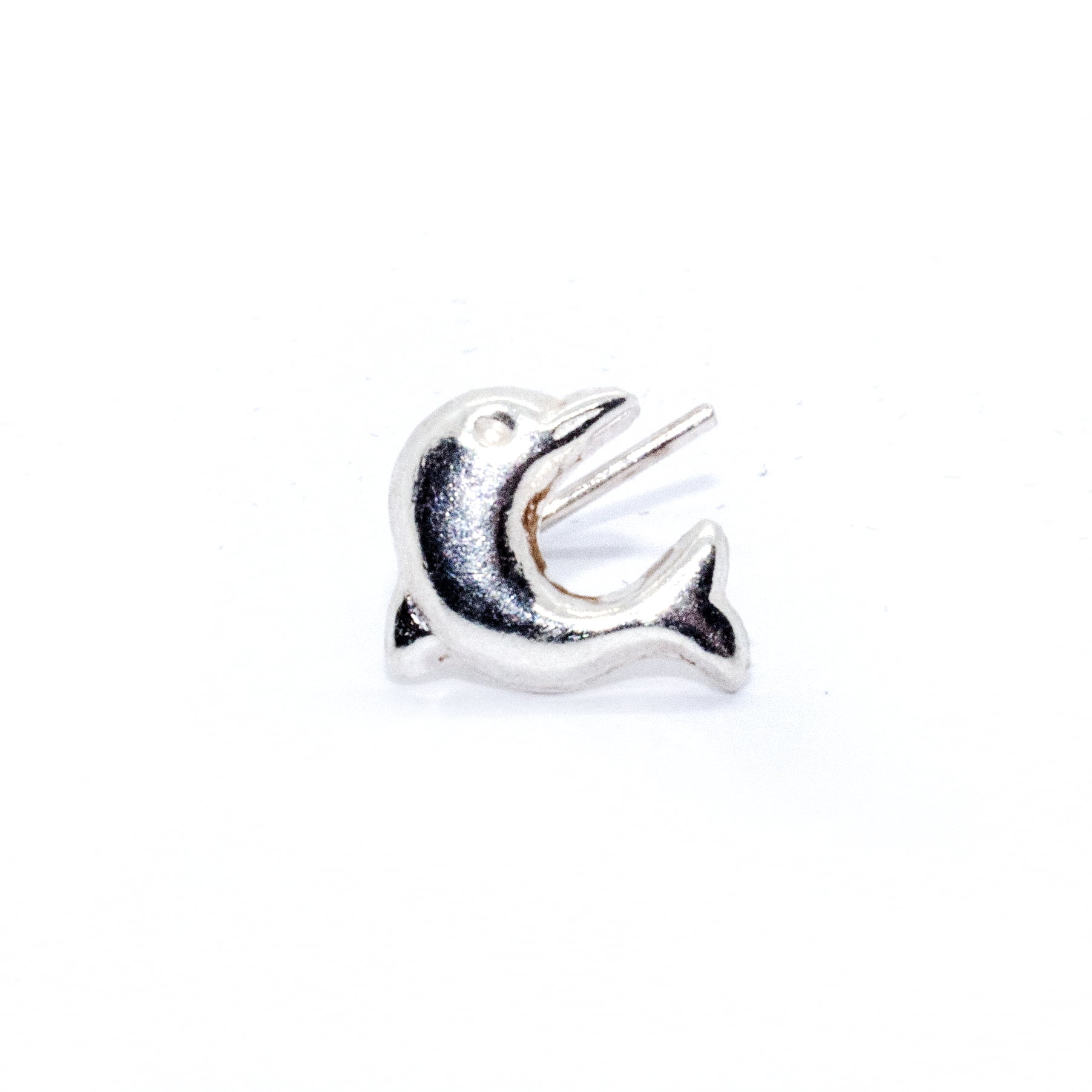 Nose stud silver dolphin (alt1)