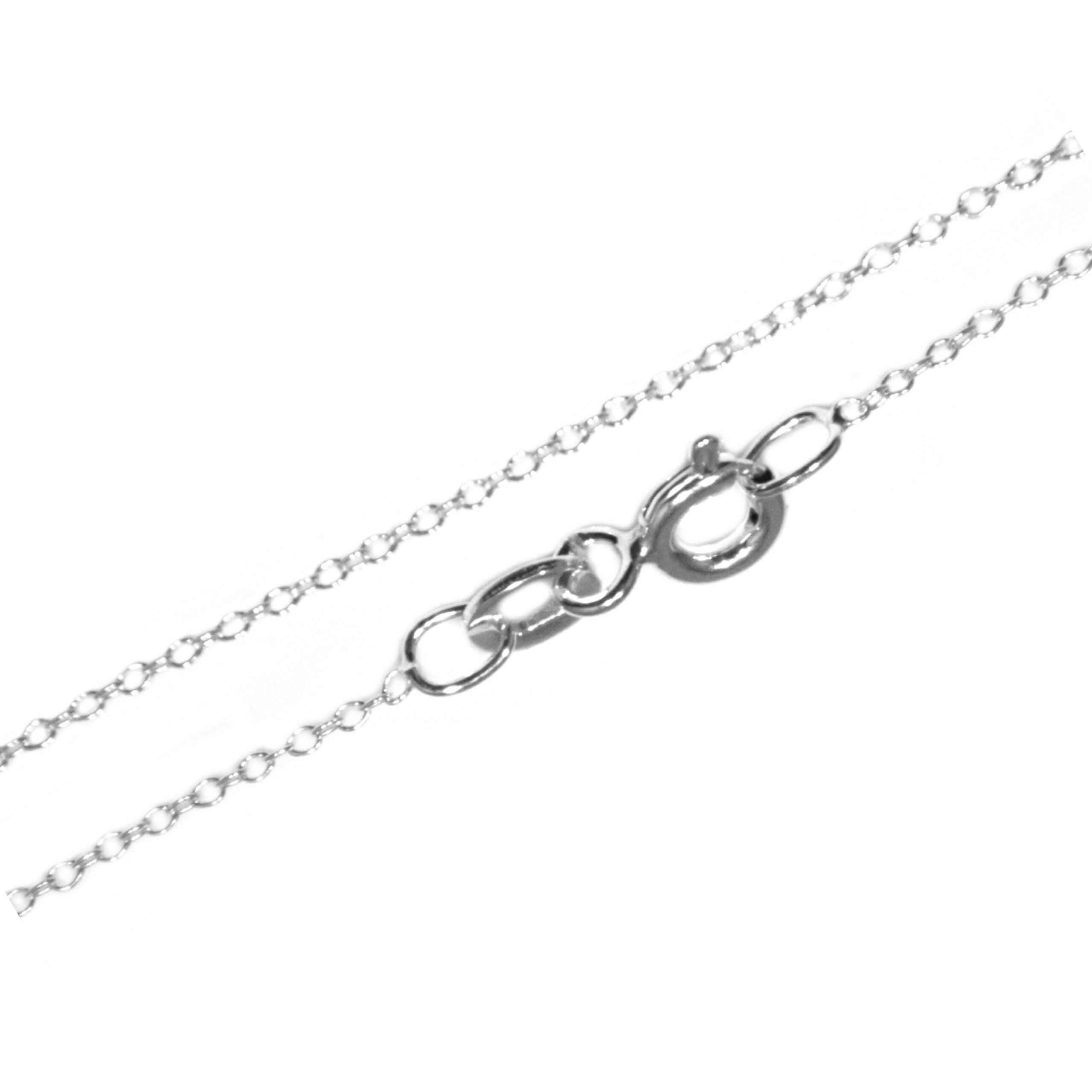 18 inch silver trace chain