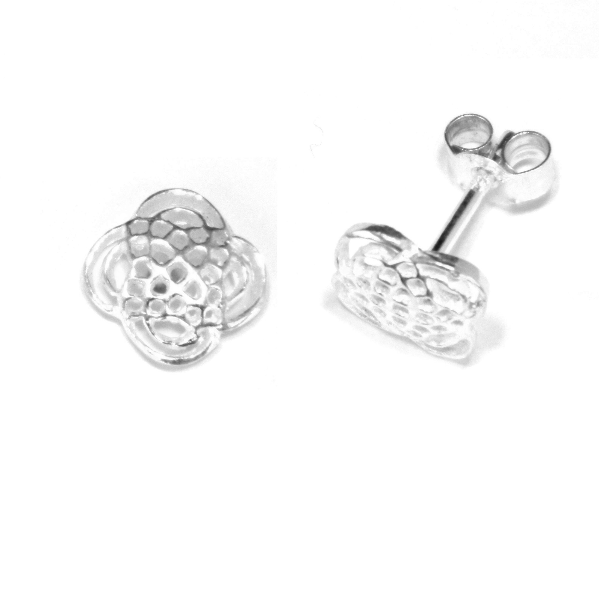 Sterling silver celtic stud earrings 9mm knot