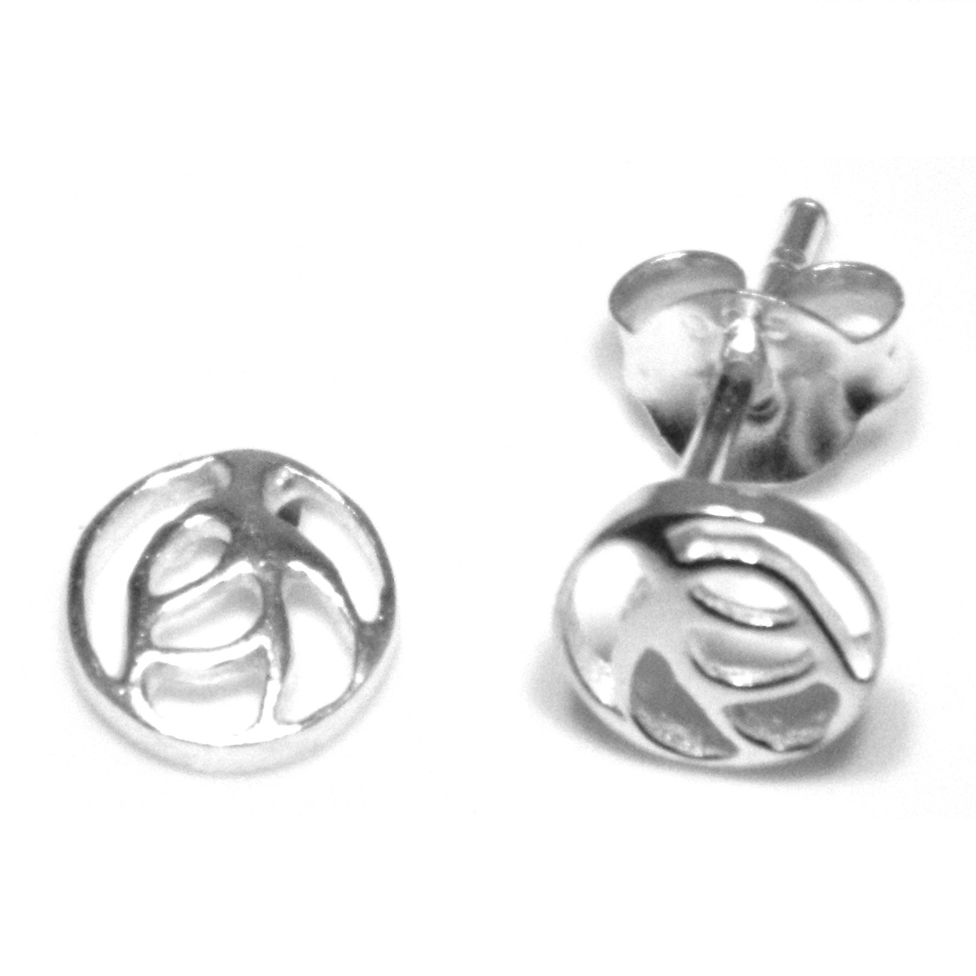 Sterling silver stud earrings Rennie Mackintosh Glasgow Rose