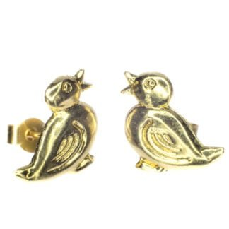 10mm duck stud earring 9ct yellow gold