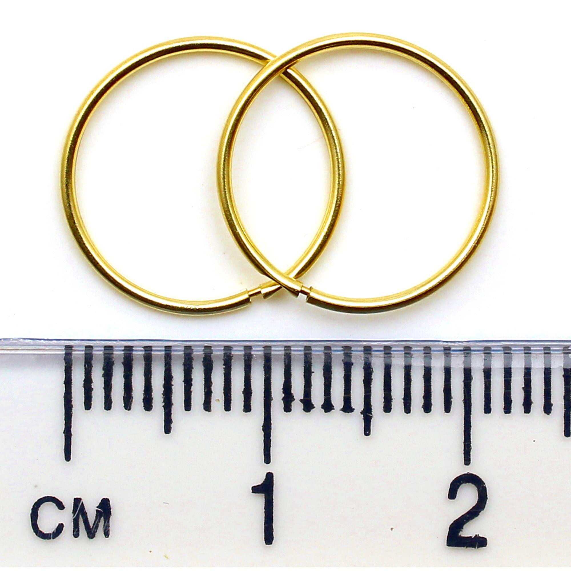 Arranview Jewellery 9ct Gold 10mm Plain Sleeper Hoops (1 Pair) RvwsYS