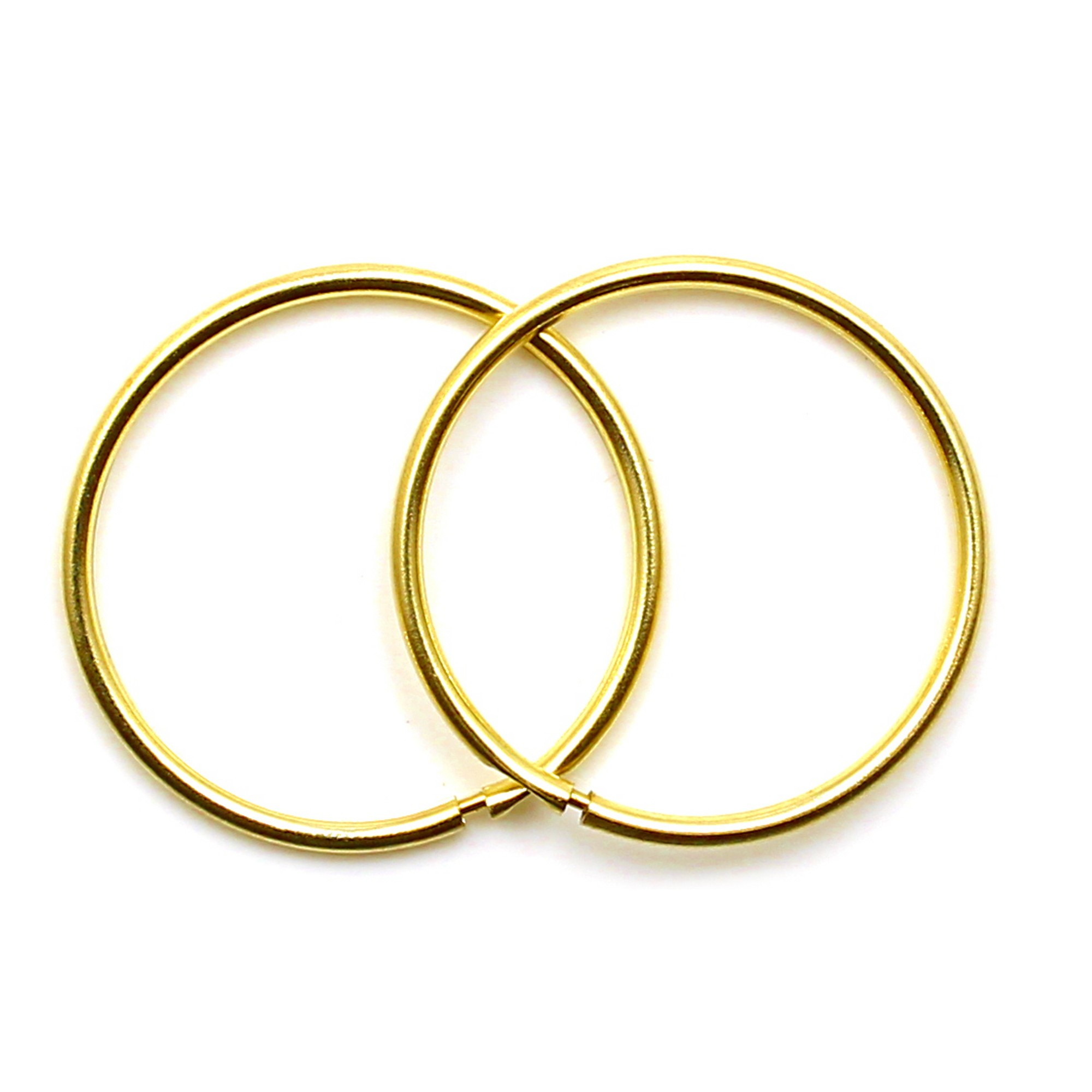 Arranview Jewellery Gold Hinged Heavy Weight Hoop Earring (15mm) - 375 9ct Yellow Gold uZccT3