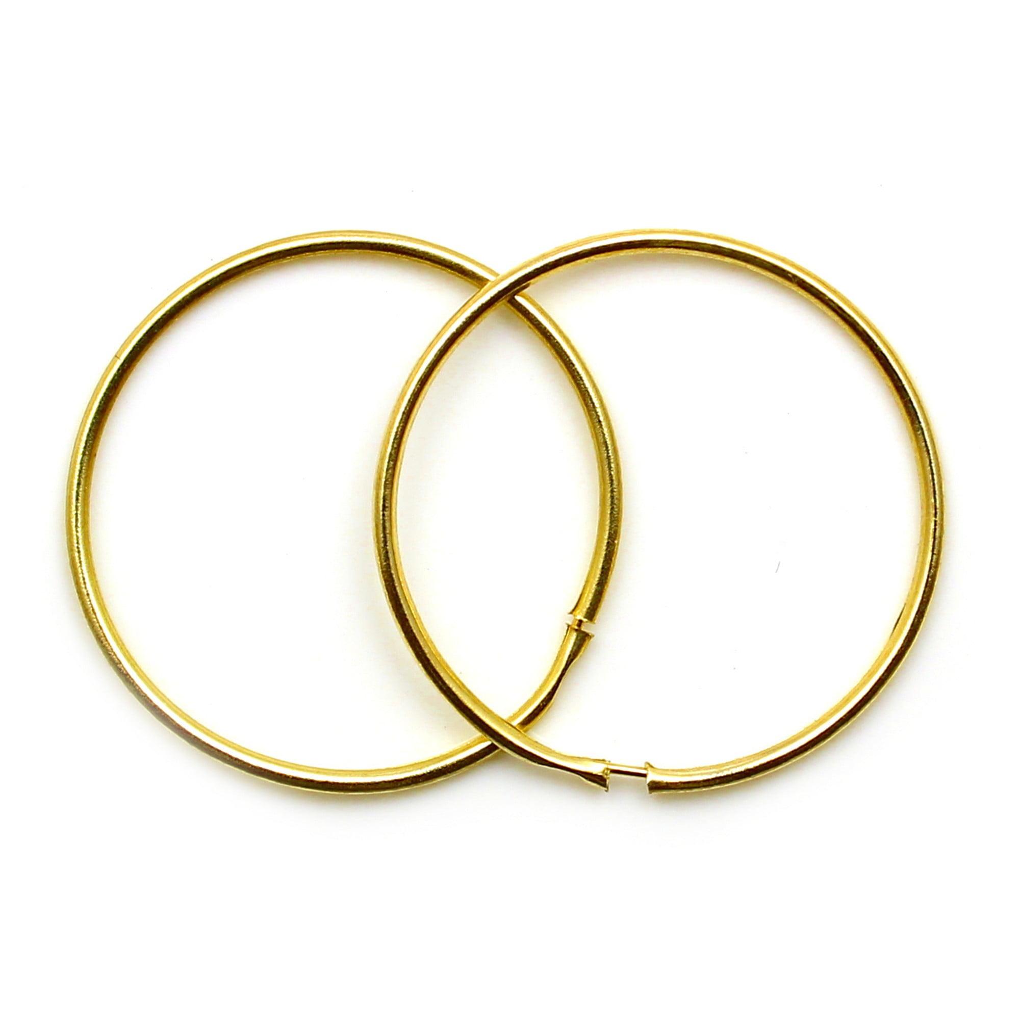 9ct Gold Diamond Cut Sleeper Earrings- 22 mm HMeBTjuD