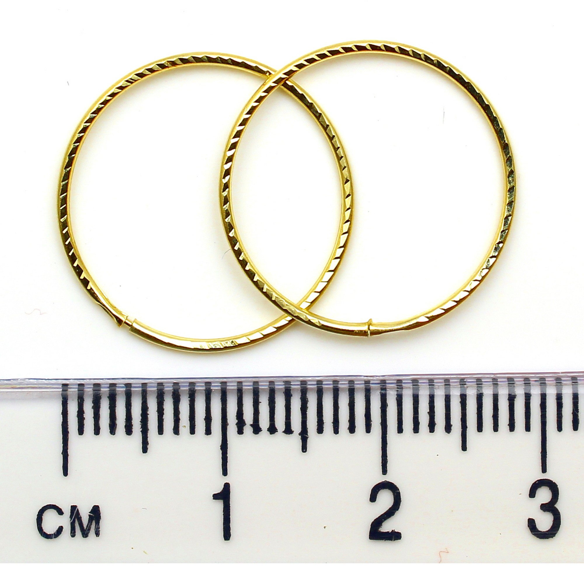 Arranview Jewellery 9ct yellow gold 12mm plain sleeper hoops (1 Pair) zKOtt4eGAf