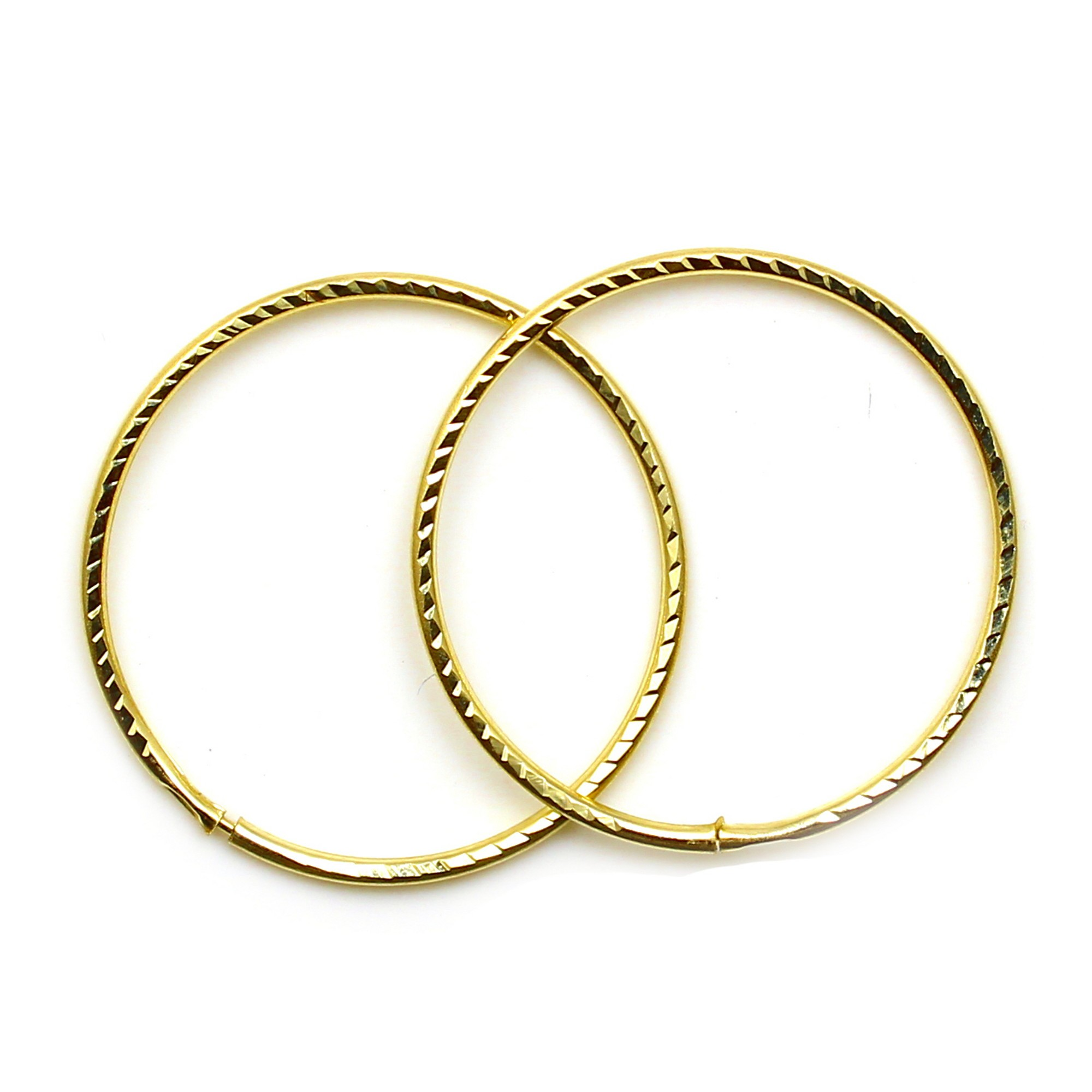 Arranview Jewellery 9ct Gold 18mm Plain Sleeper Hoops (1 Pair) Alzuy
