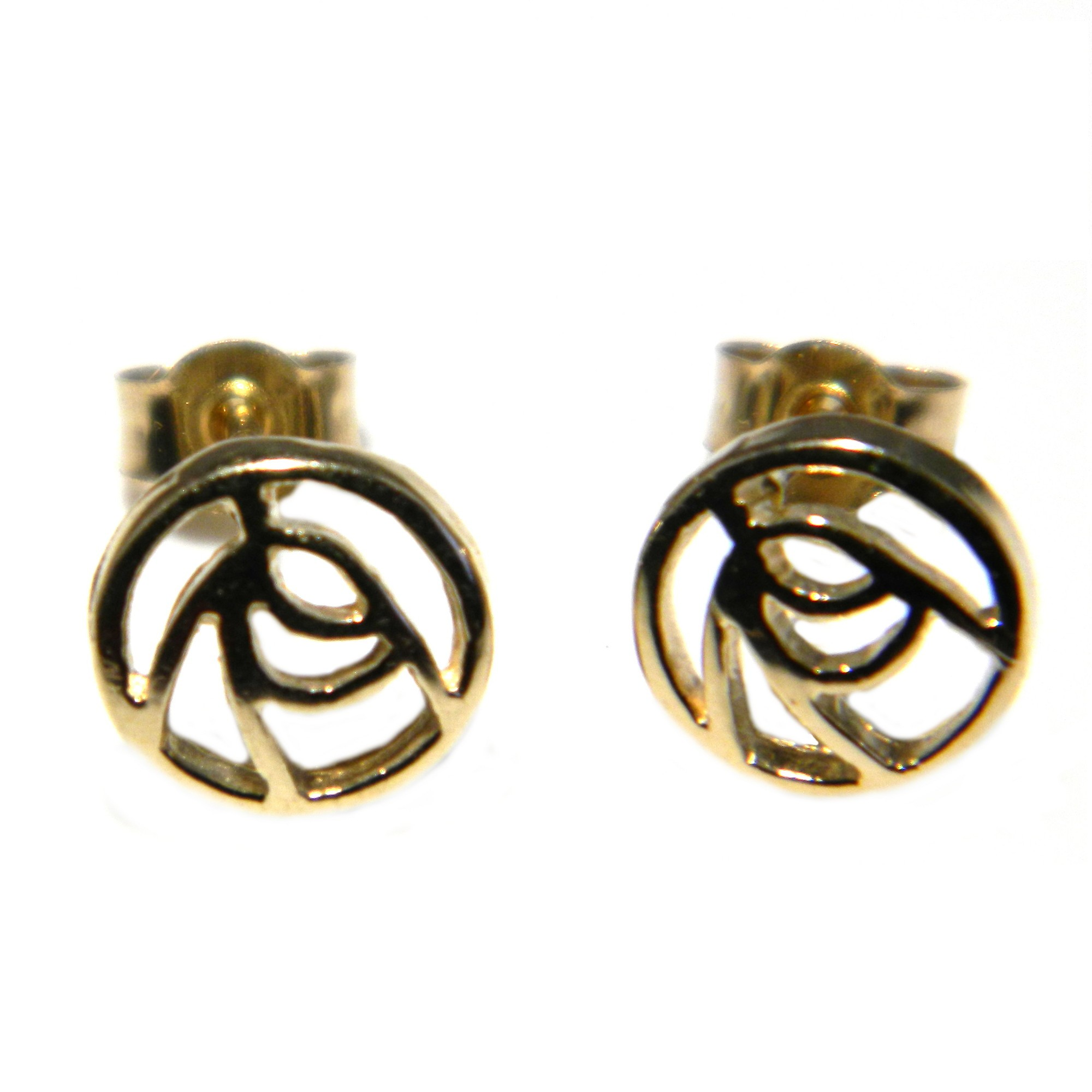 Arranview Jewellery Celtic Knotwork 8mm Stud Earring - 9ct Yellow Gold XJ4O1j1OUC