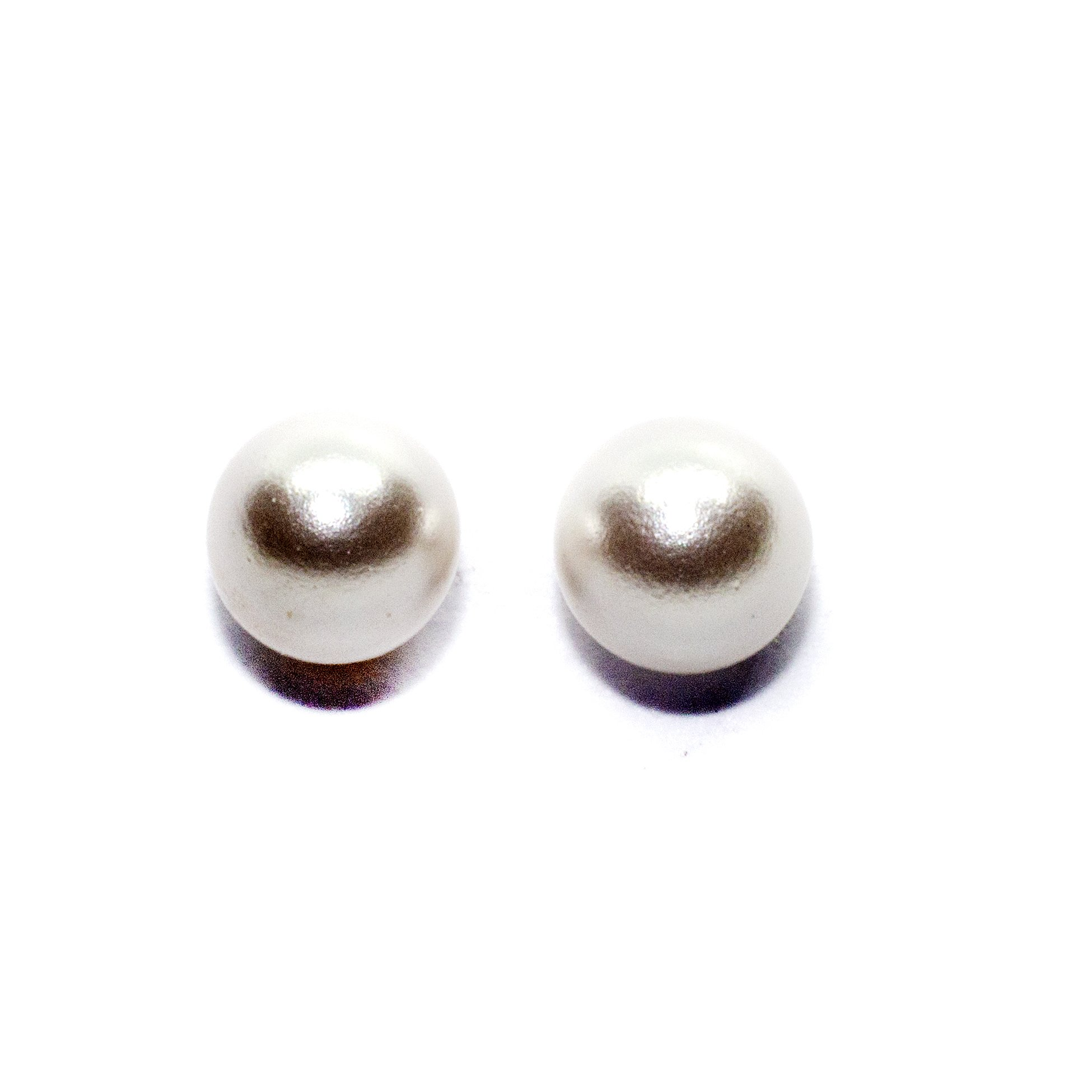 4mm gold pearl stud earings 9ct yellow gold alt4