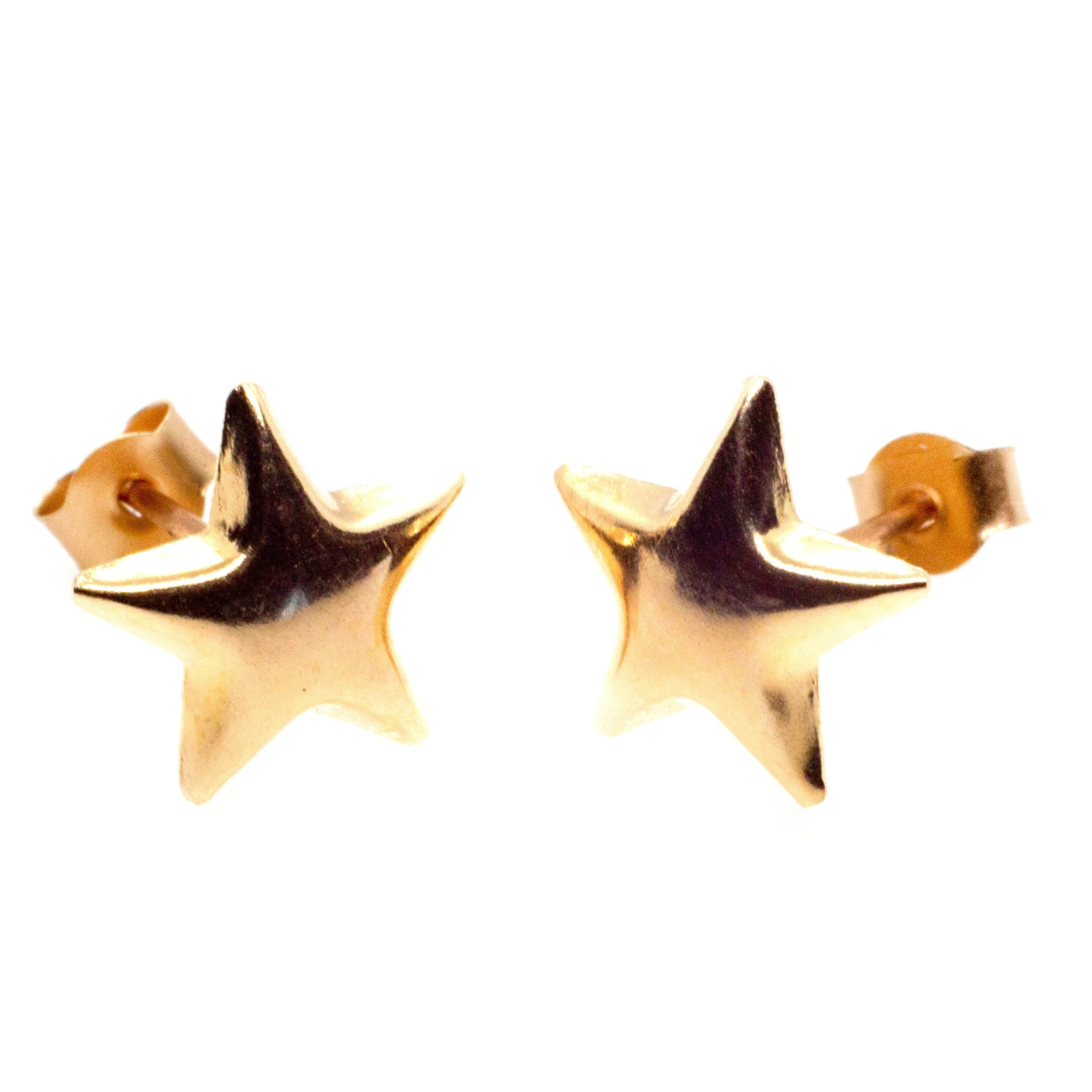 9ct gold star earrings