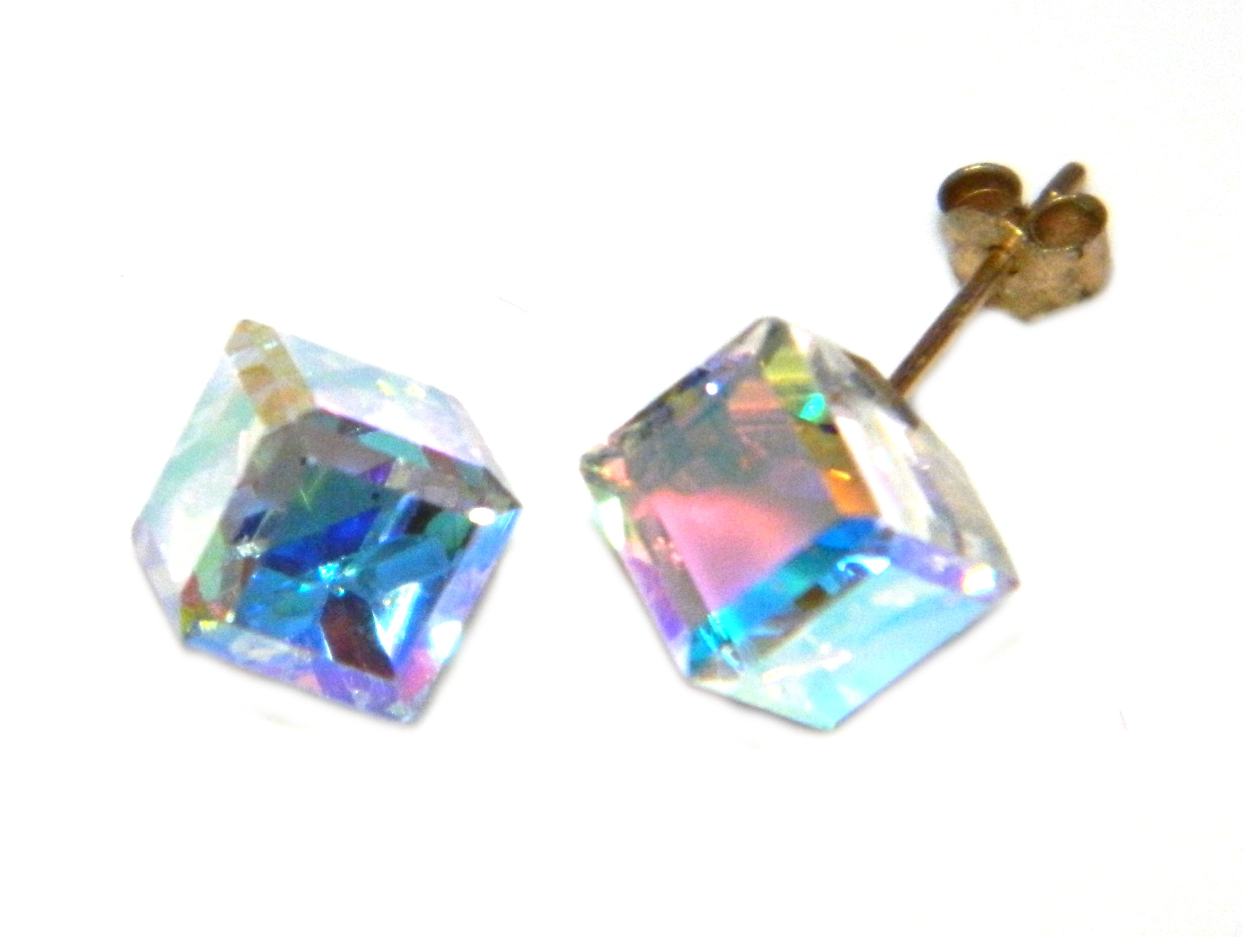 Arranview Jewellery 6mm CZ Stud Earring - 9ct Gold With Small (3mm) Butterfly Backs jZujtW3