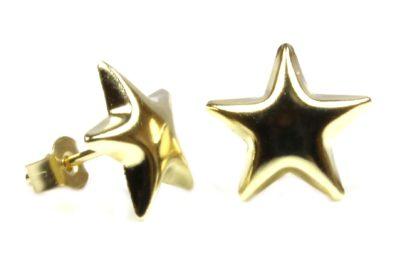9ct gold star earrings orig