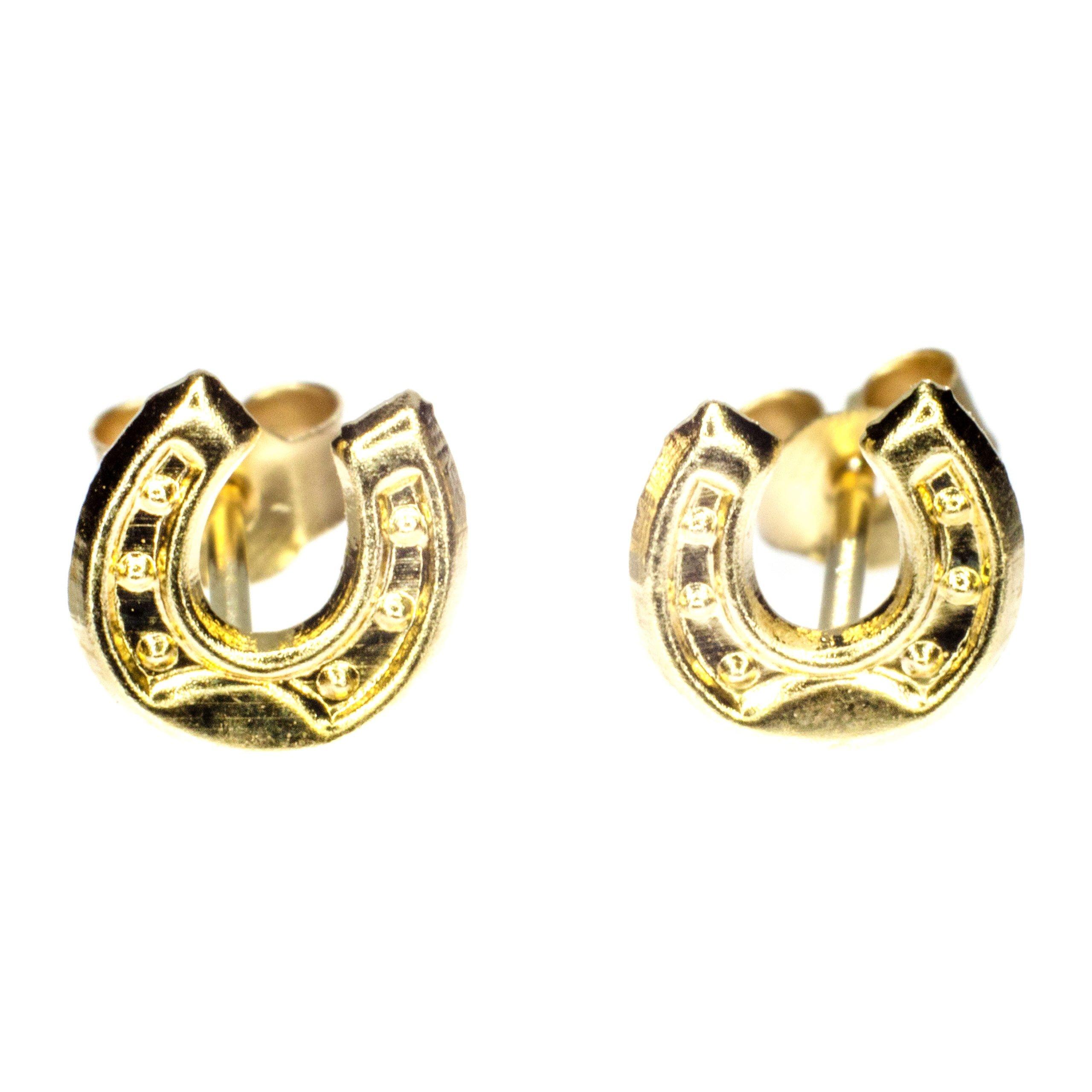 5mm horseshoe earrings 9ct yellow gold alt 1