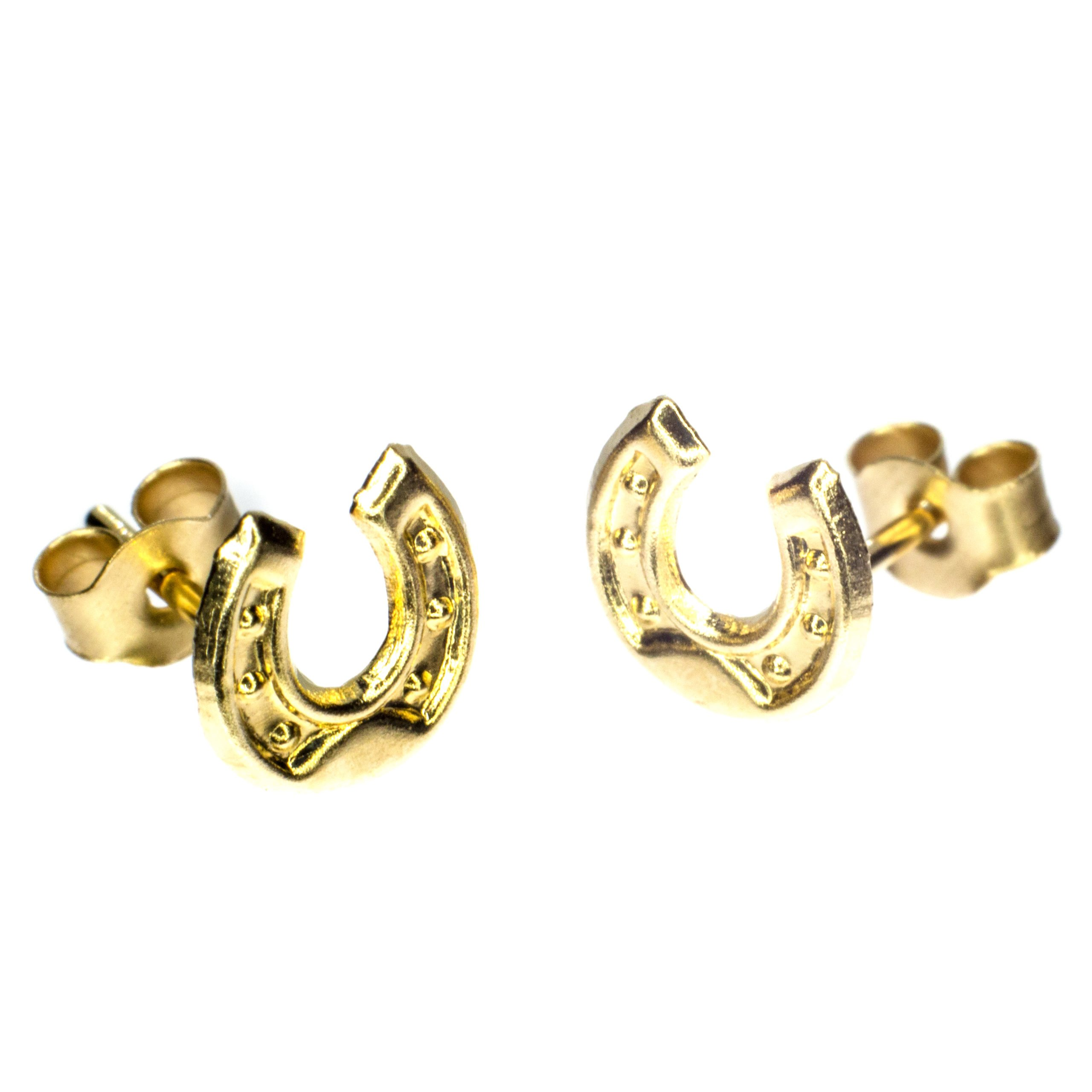 5mm horseshoe earrings 9ct yellow gold