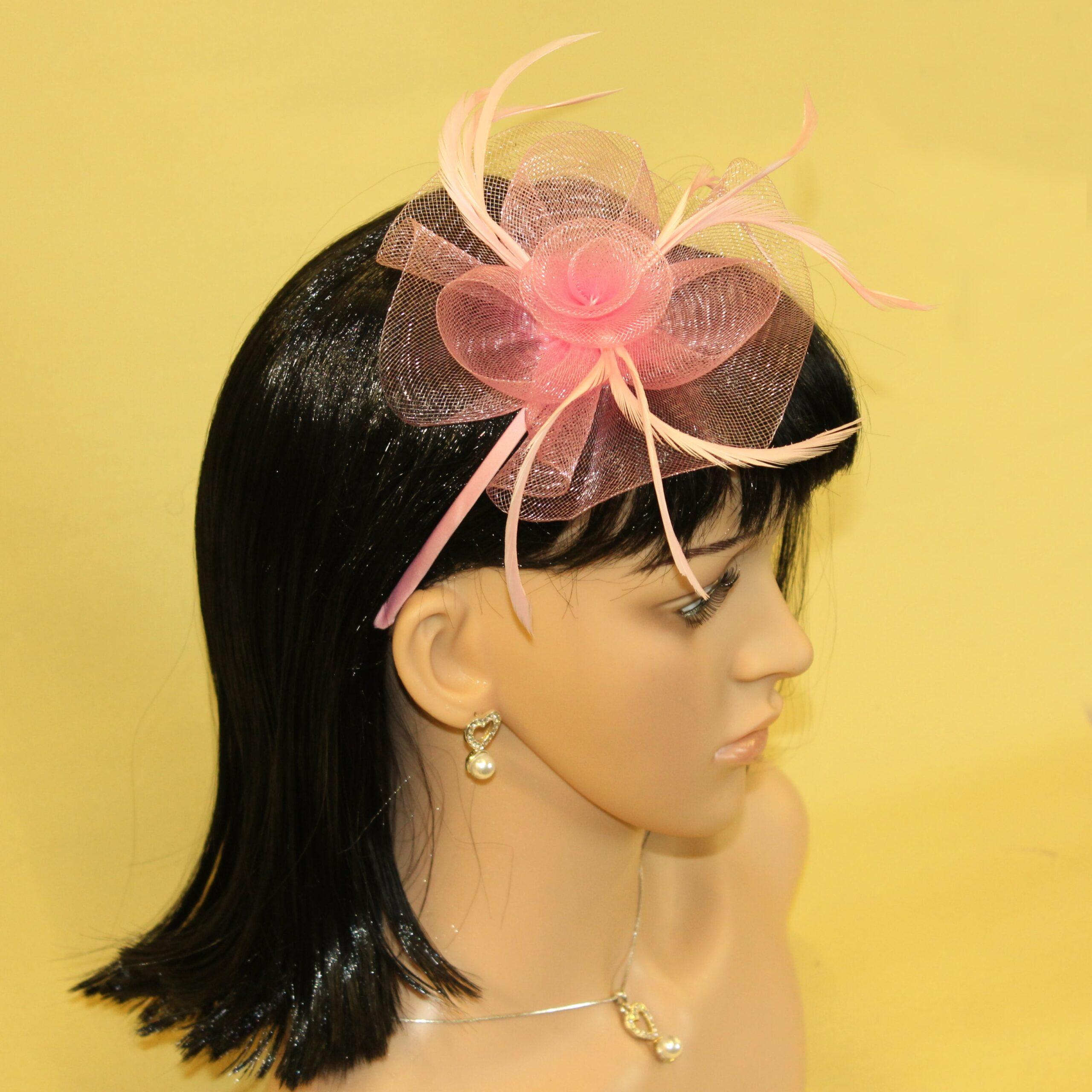 New Pink /& Peach Flower Hair Clip Beak Hair Accessory Set