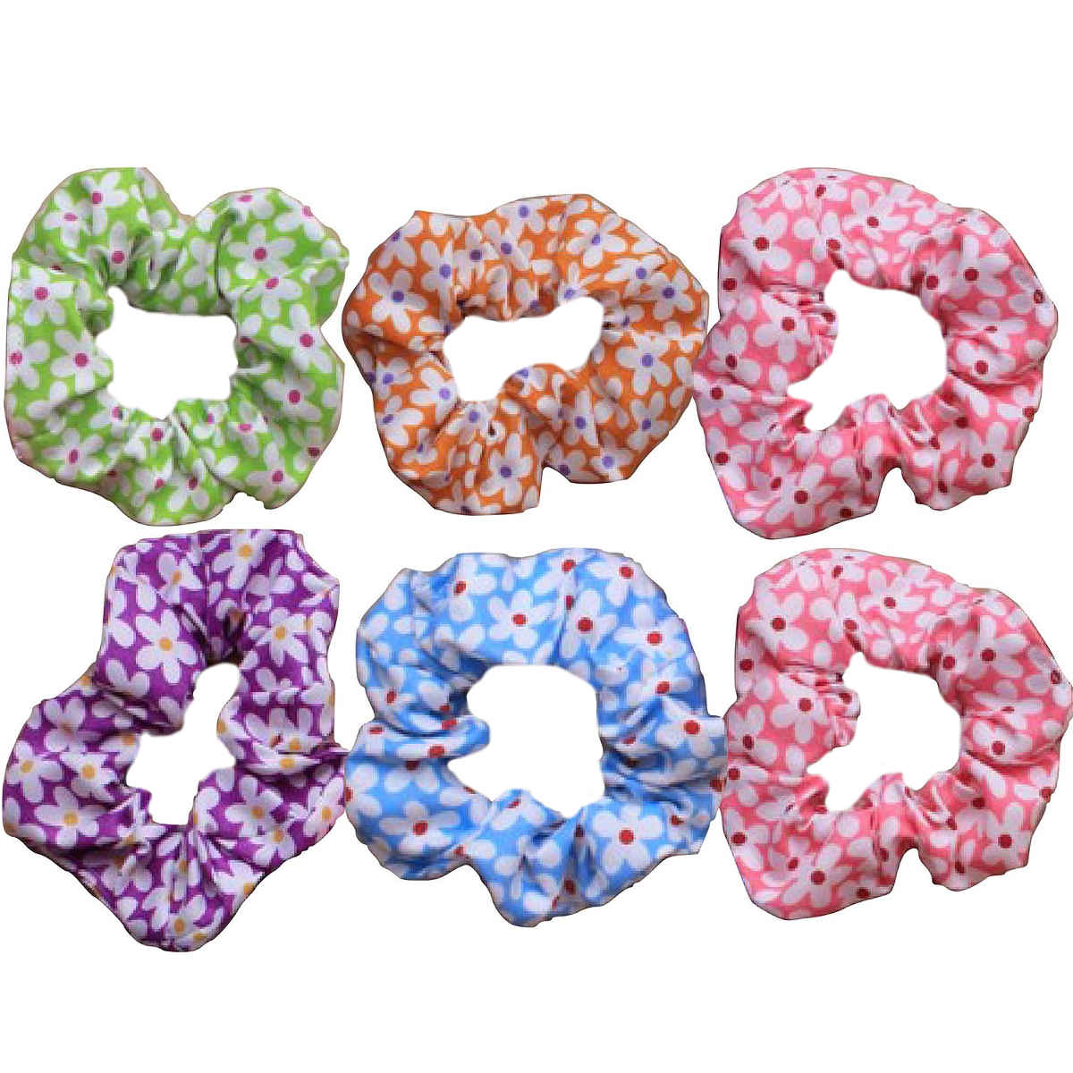 daisy-print-scrunchies