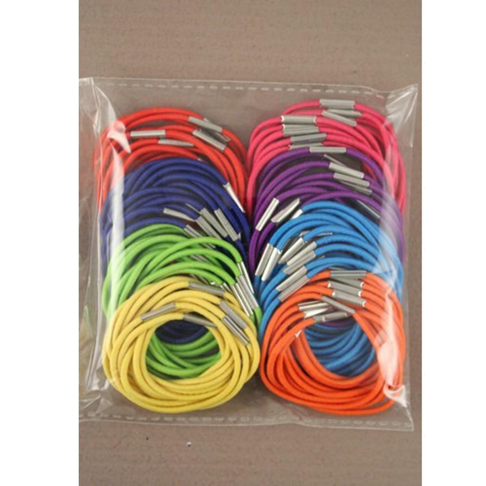 100 coloured thin hair elastics  2a5f6d5358e