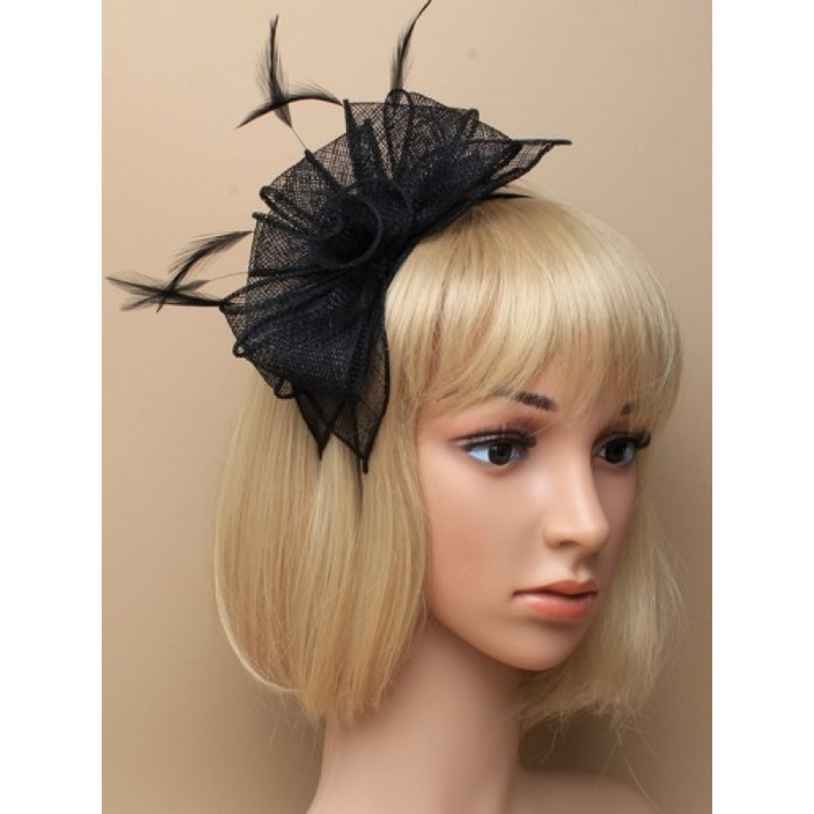 Arranview 5912 black fascinator