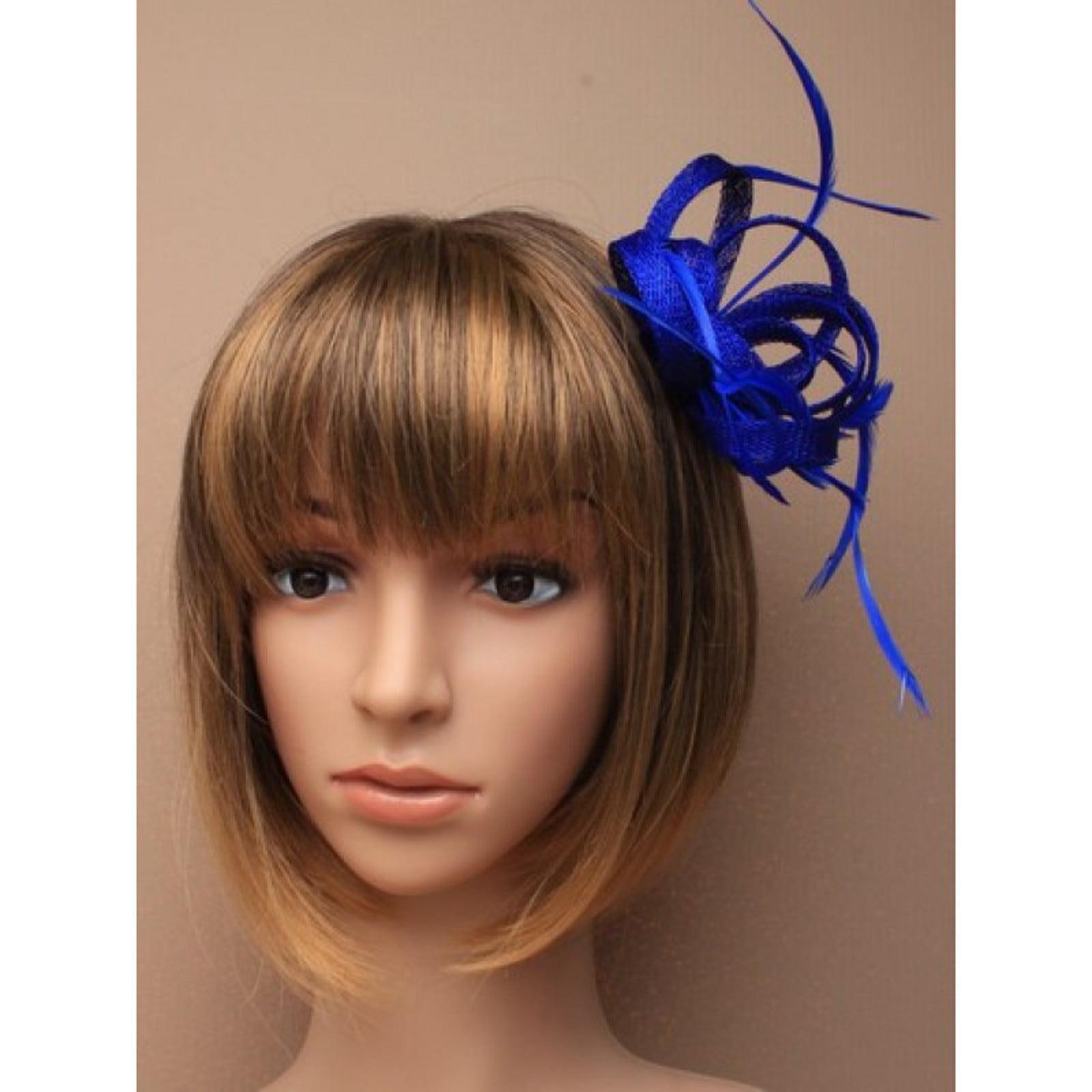 Blue fascinator 5905