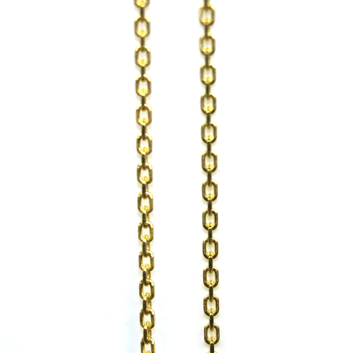 Sterling silver chain 46cm gold plated - links