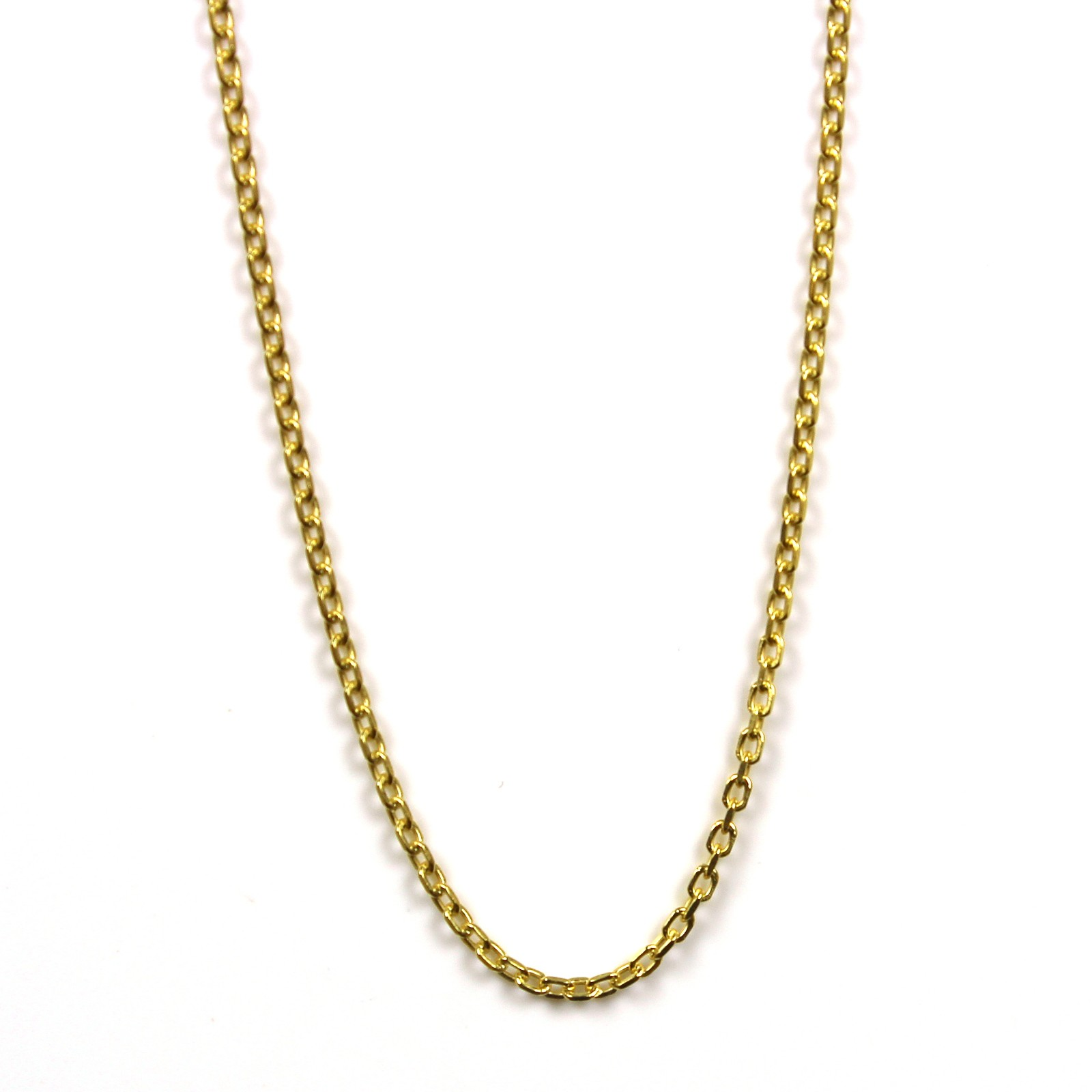 Sterling silver chain 46cm gold plated