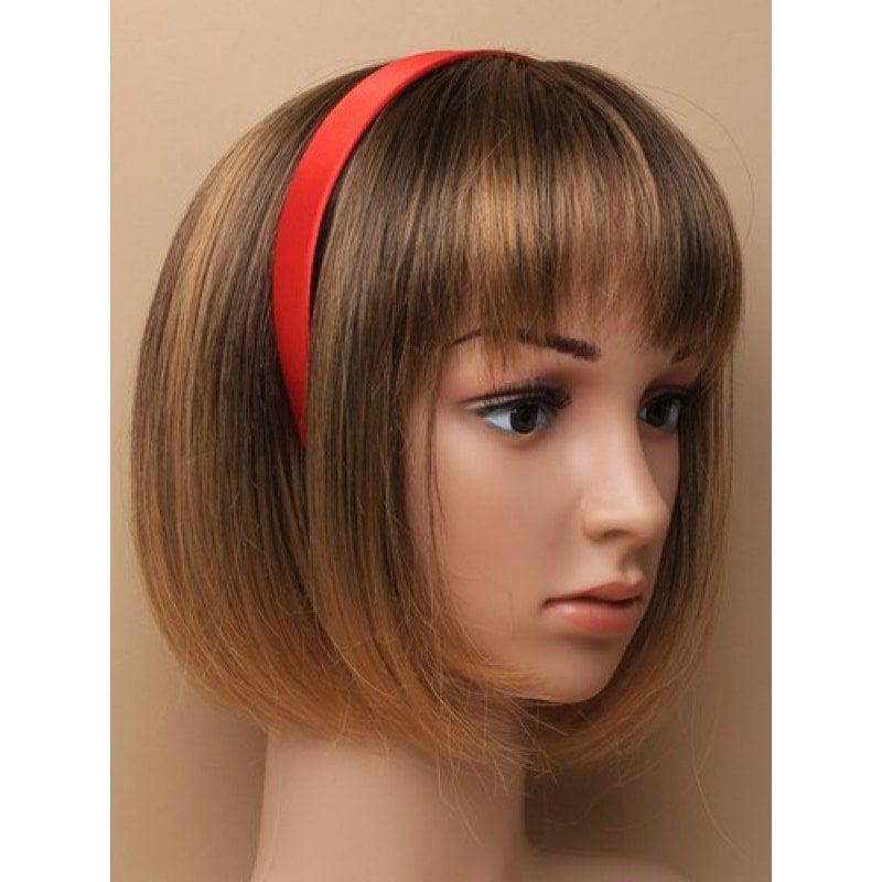 Red headband on model