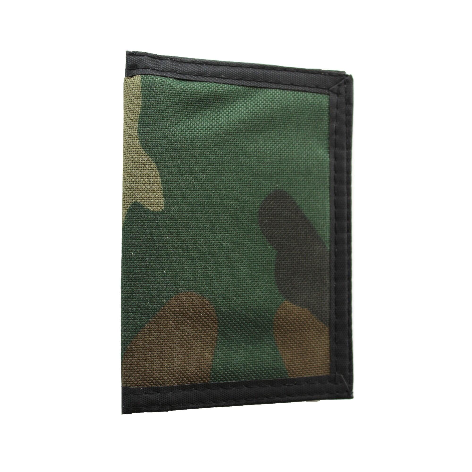 Dark green camouflage wallet