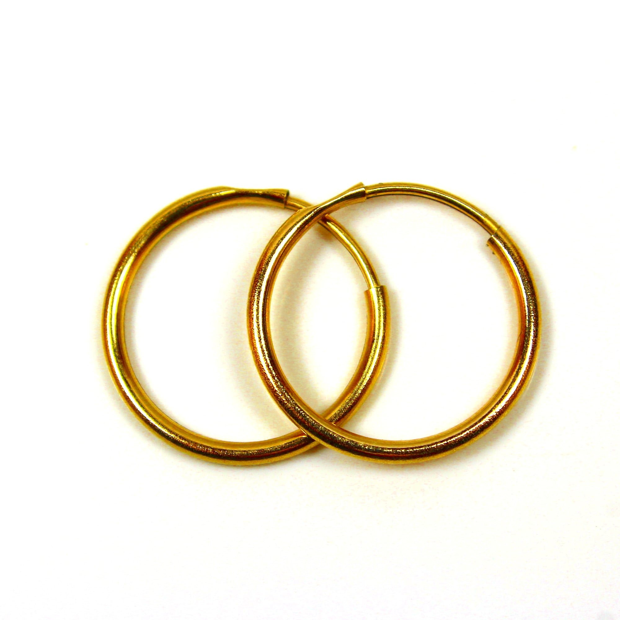 14mm gold hoop earrings