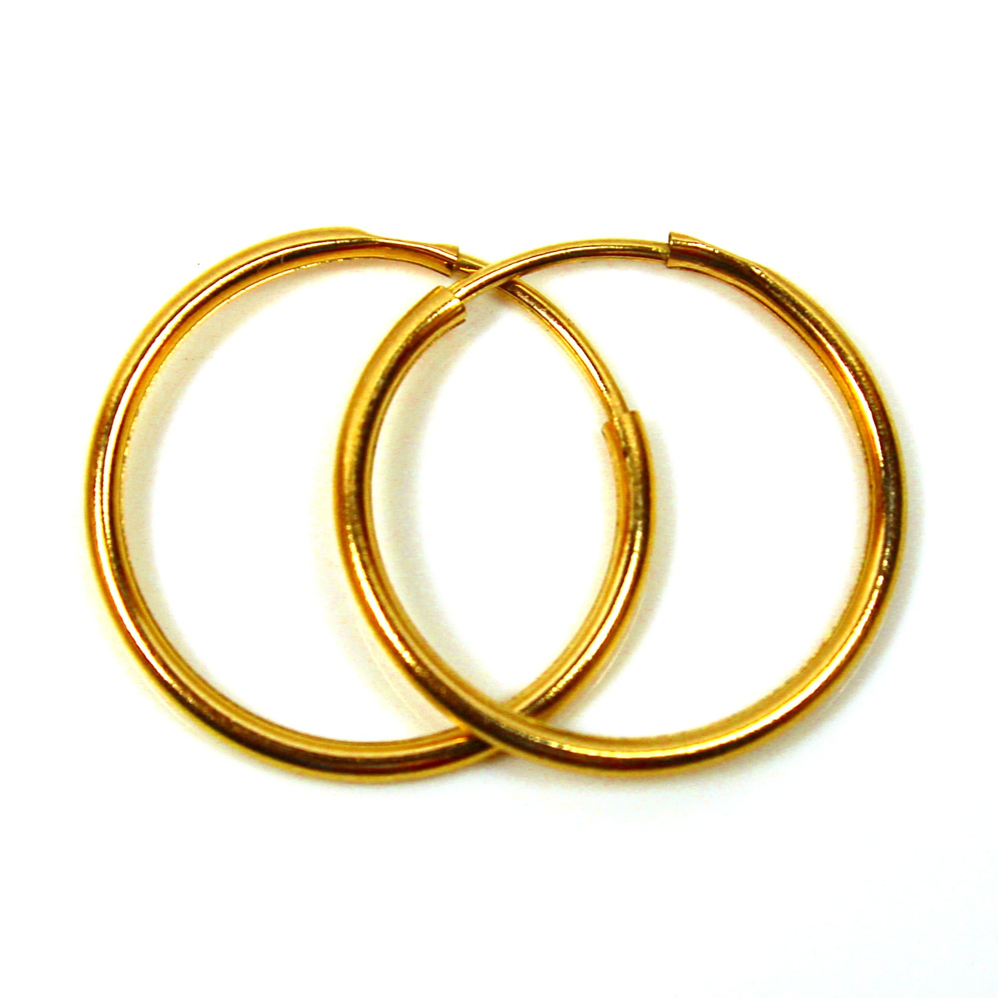 18mm 9ct gold hoop earrings