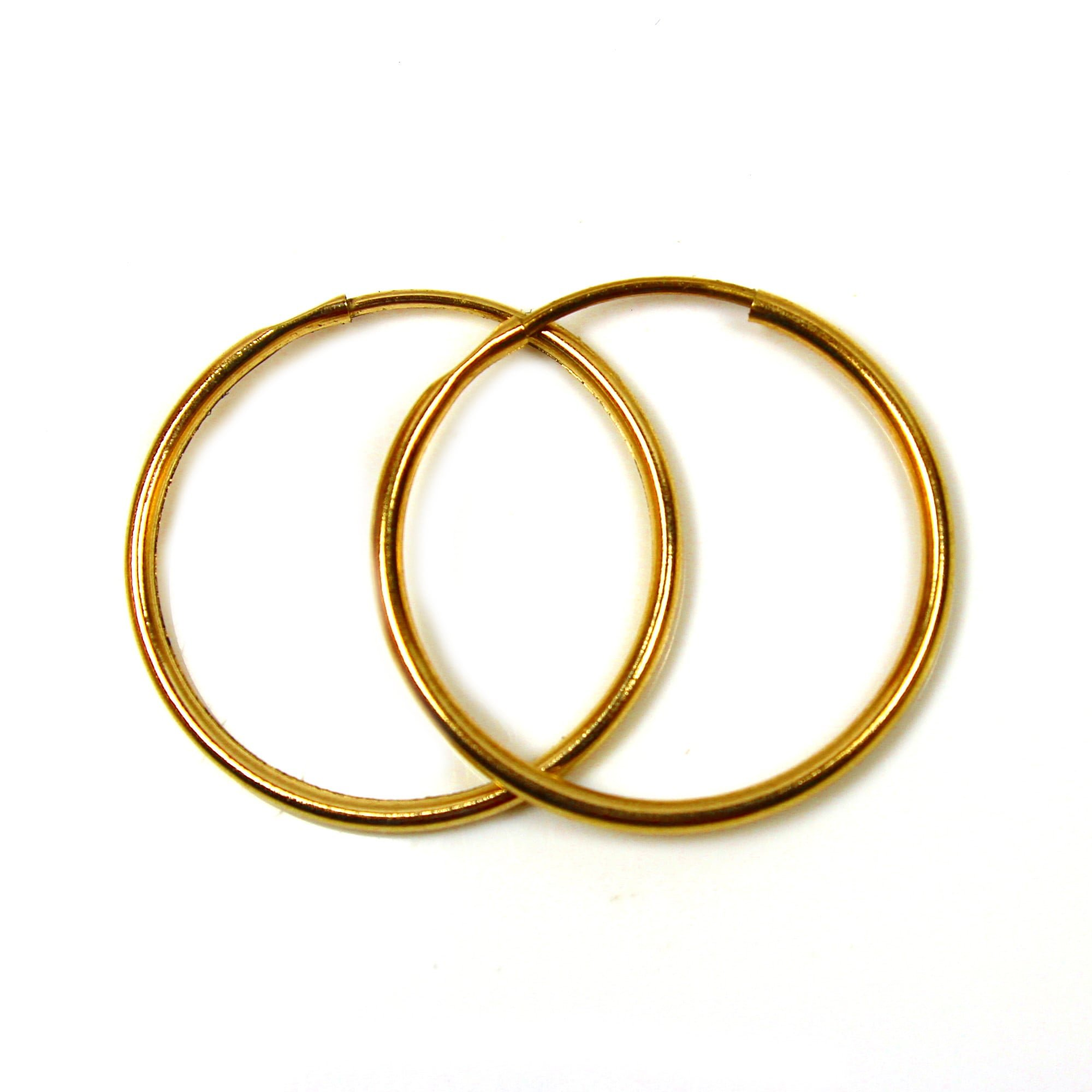 22mm 9ct gold hoop earrings
