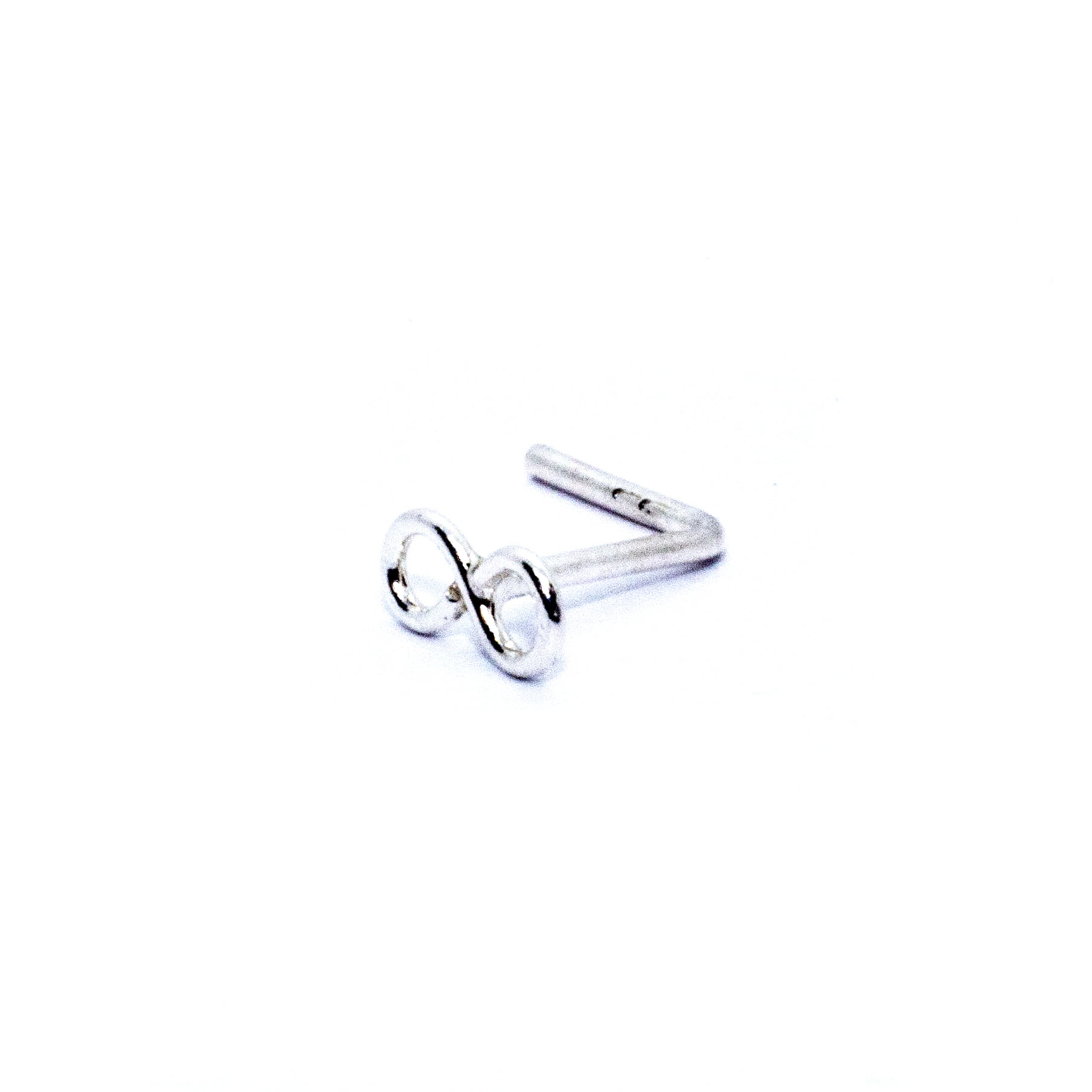 Infinity nose stud in sterling silver (alt3)