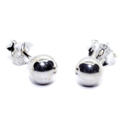 5mm sterling silver ball earrings image 2